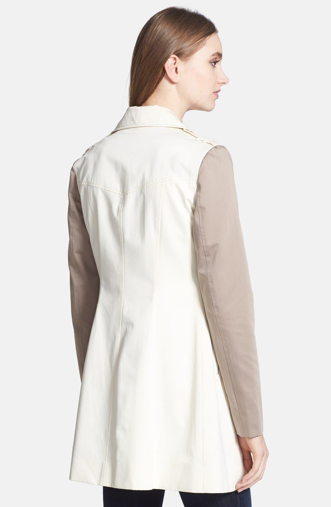 Alternate Image 2  - Soia & Kyo Asymmetrical Two-Tone Trench Coat