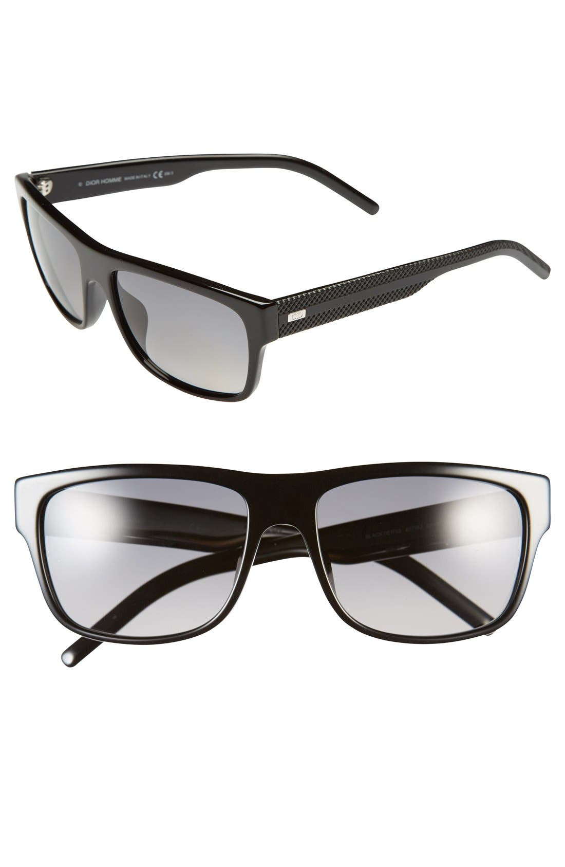 Main Image - Dior Homme 57mm Polarized Sunglasses