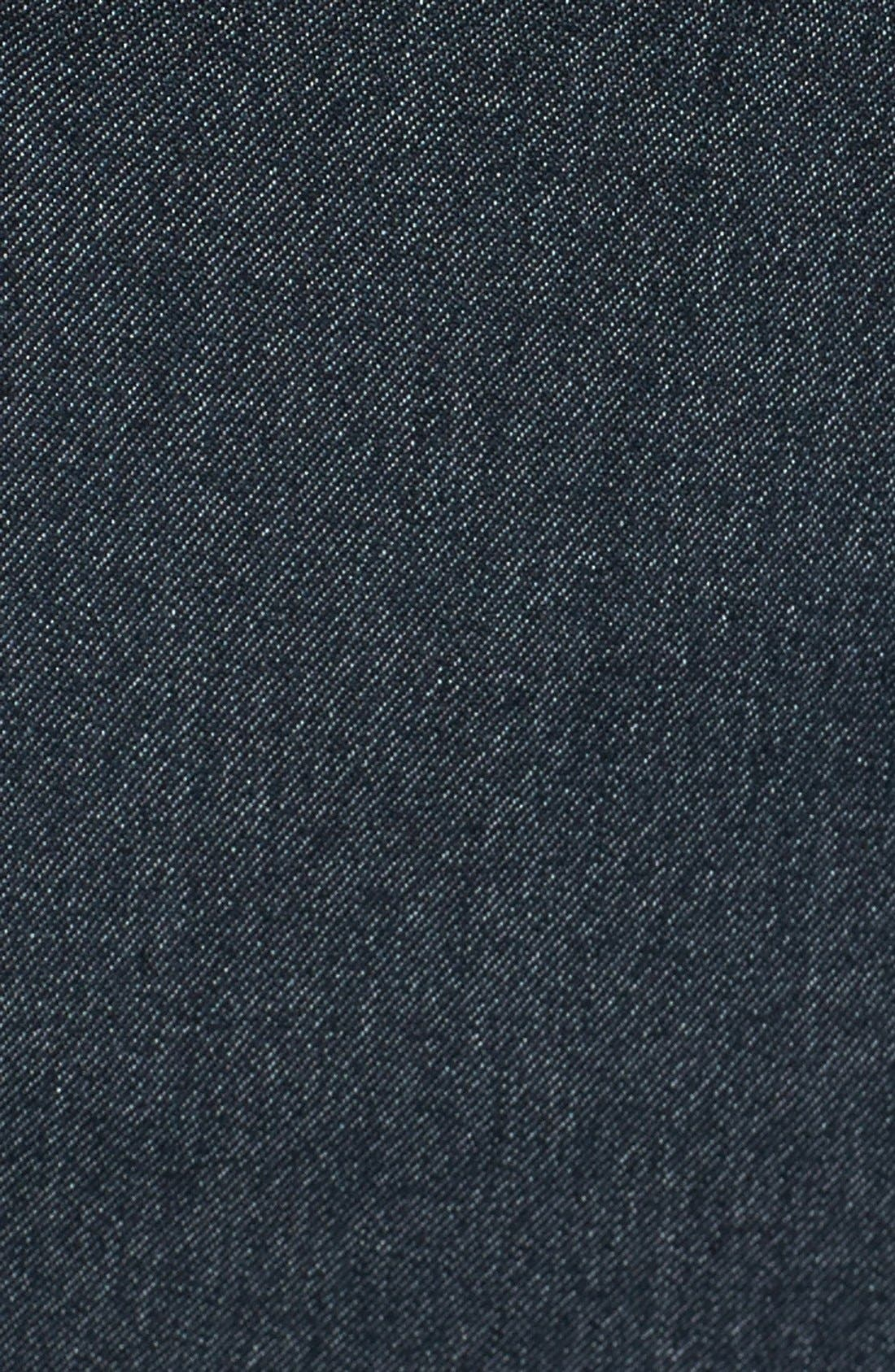 Alternate Image 3  - Betsey Johnson Laser Cut Denim Fit & Flare Dress