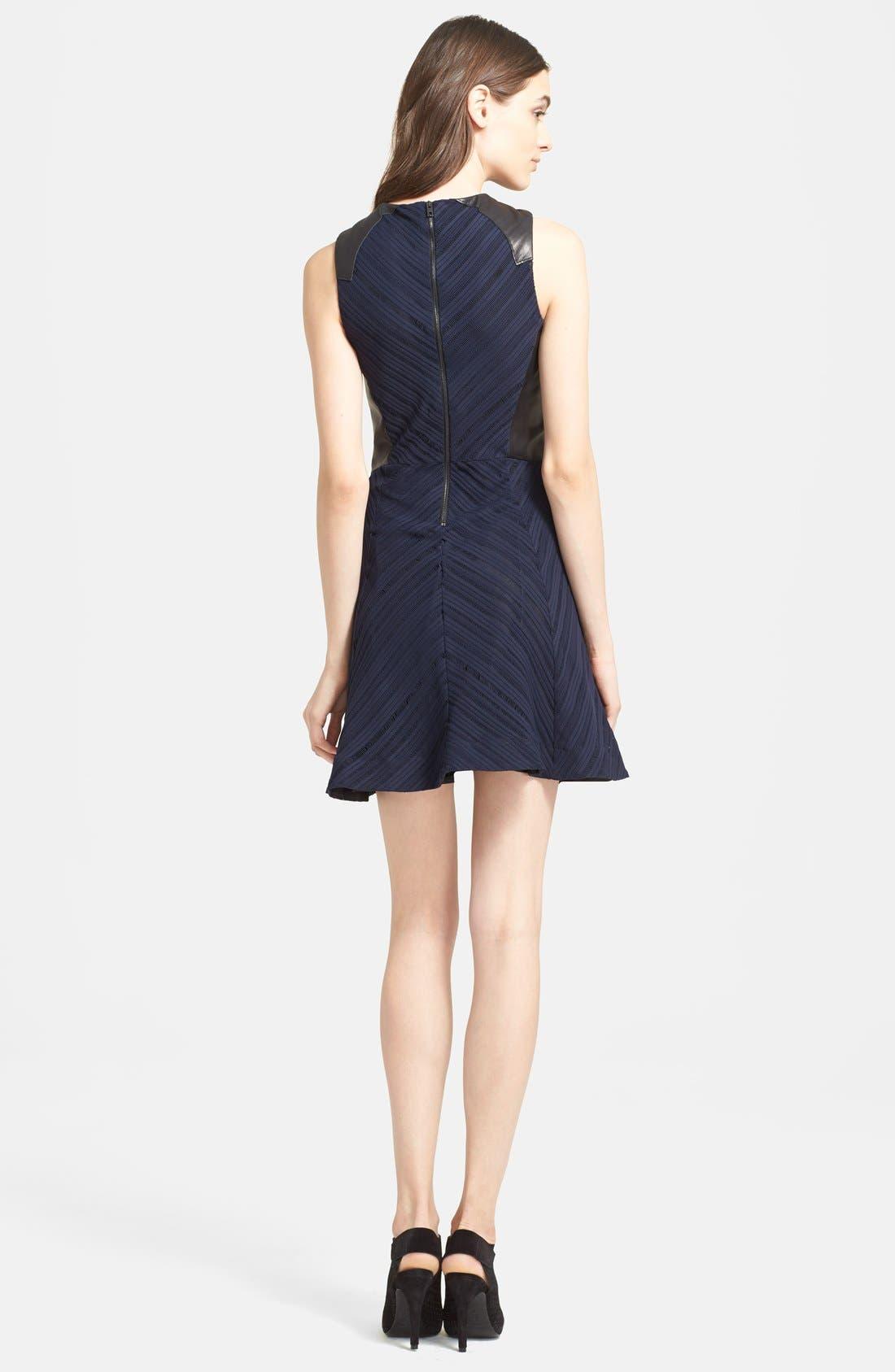 Alternate Image 2  - rag & bone 'Basha' Leather Trim Dress