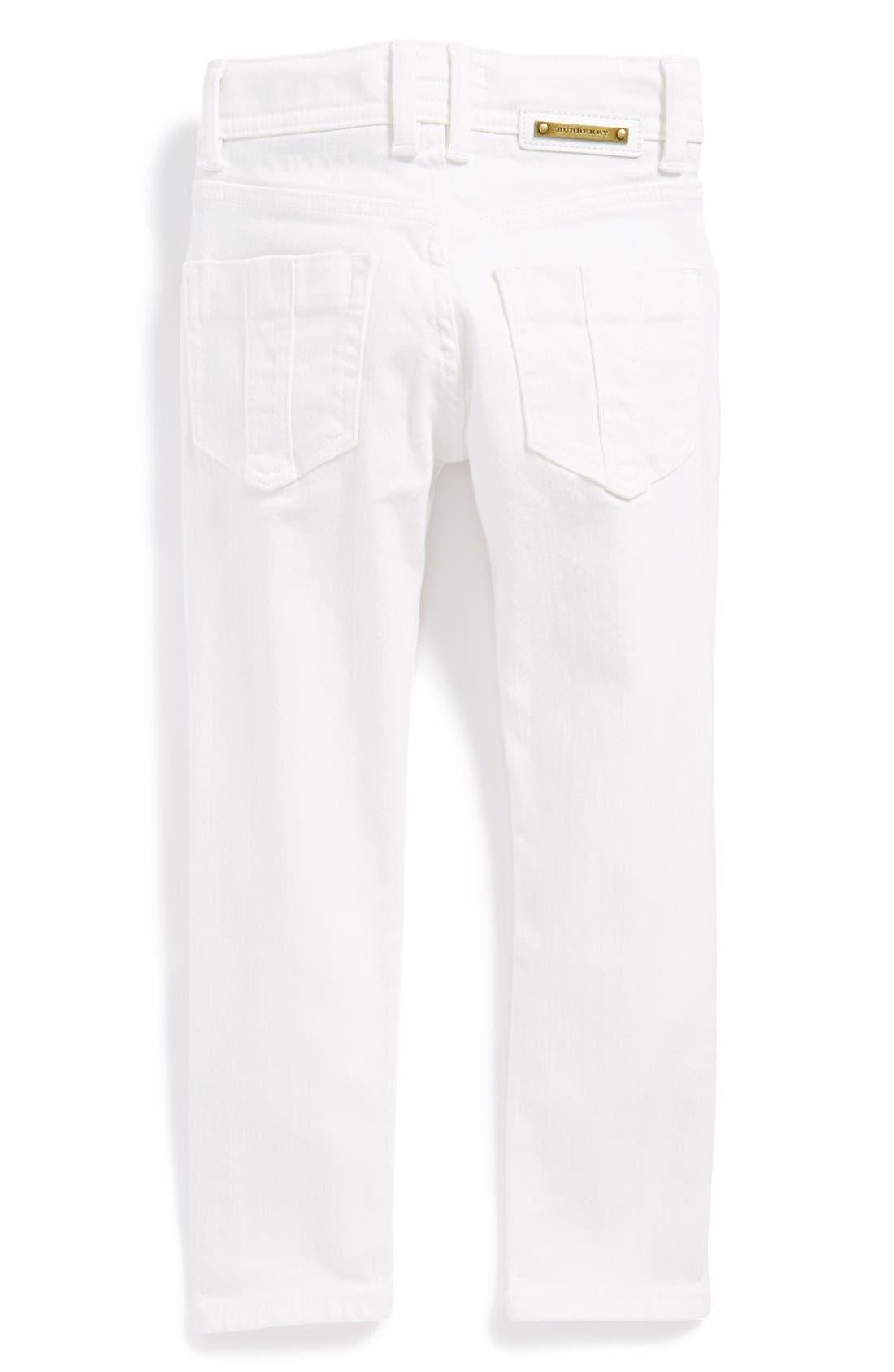 Alternate Image 1 Selected - Burberry 'Piccadilly' Skinny Jeans (Toddler Girls, Little Girls & Big Girls)