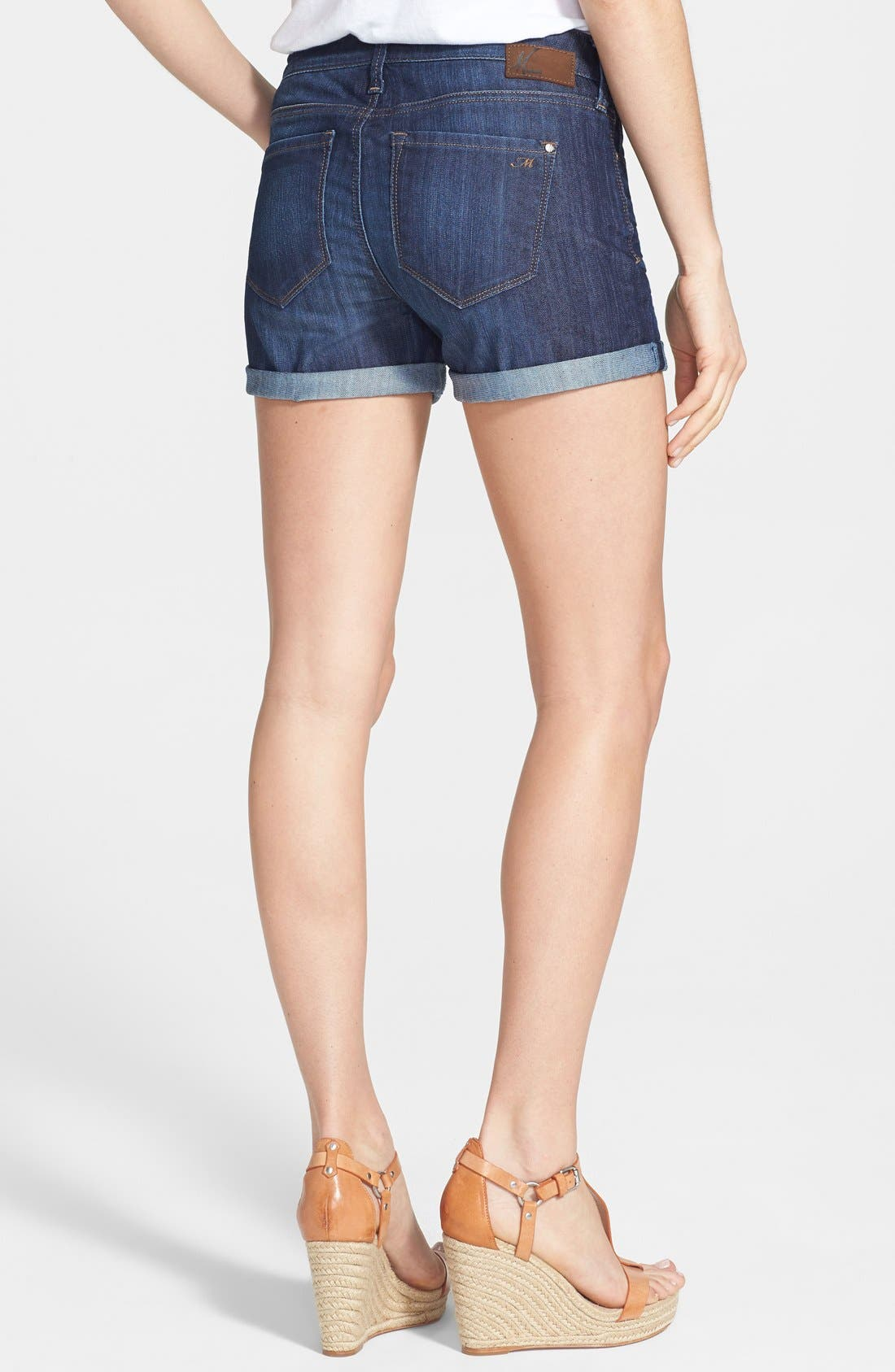 Alternate Image 2  - Mavi Jeans 'Emily' Roll Cuff Denim Shorts (Dark Nolita)