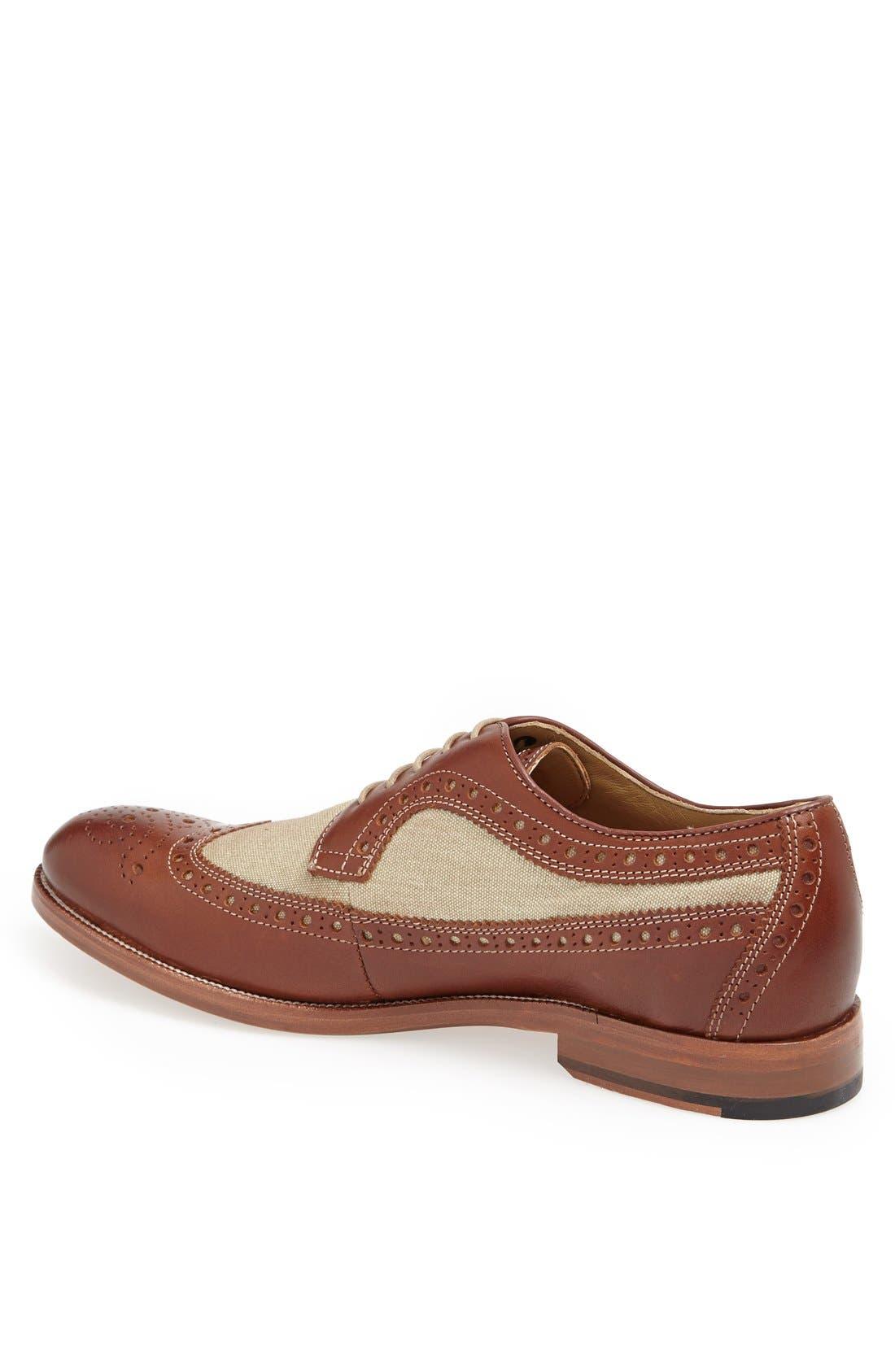 Alternate Image 2  - Johnston & Murphy 'Clayton' Longwing Spectator Shoe (Online Only)