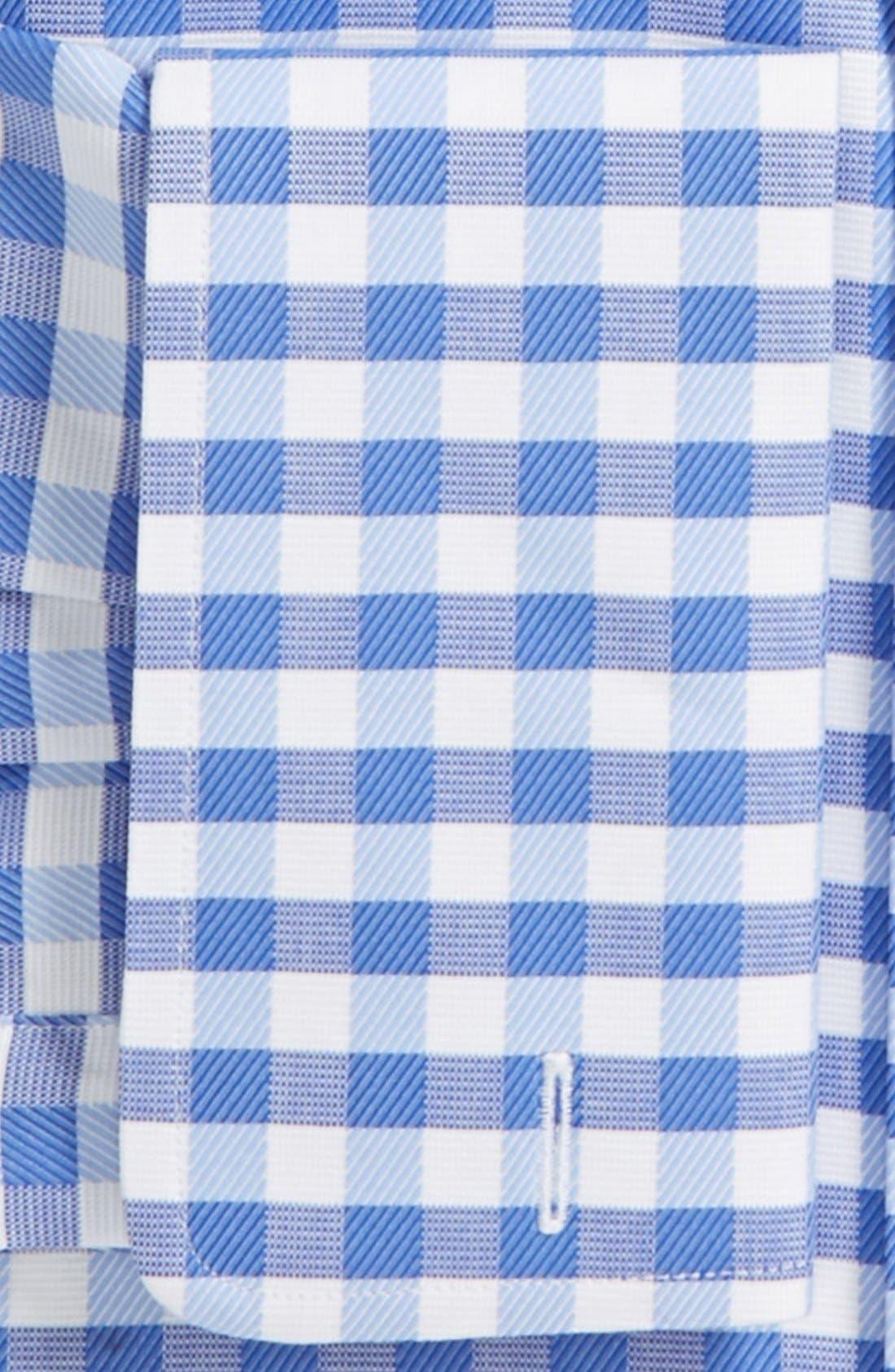 Alternate Image 2  - David Donahue Fancy Twill Check Trim Fit Dress Shirt