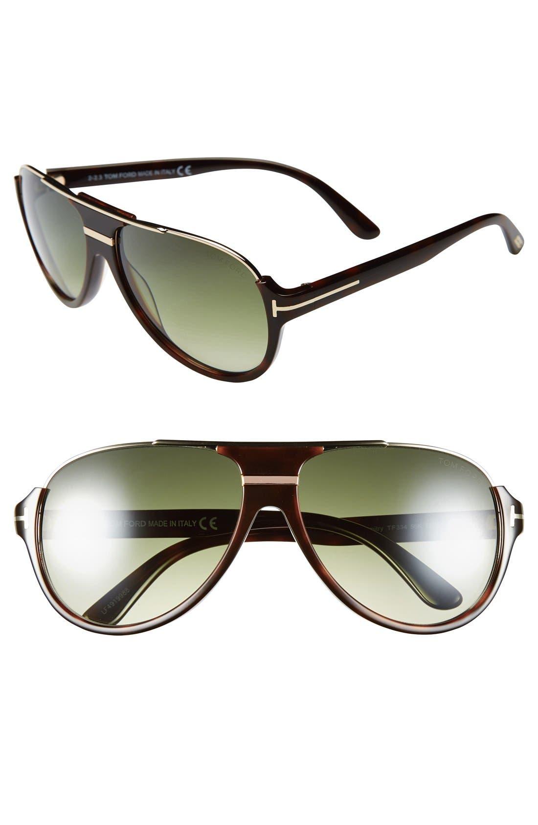 Alternate Image 1 Selected - Tom Ford 'Dimitry' 59mm Aviator Sunglasses