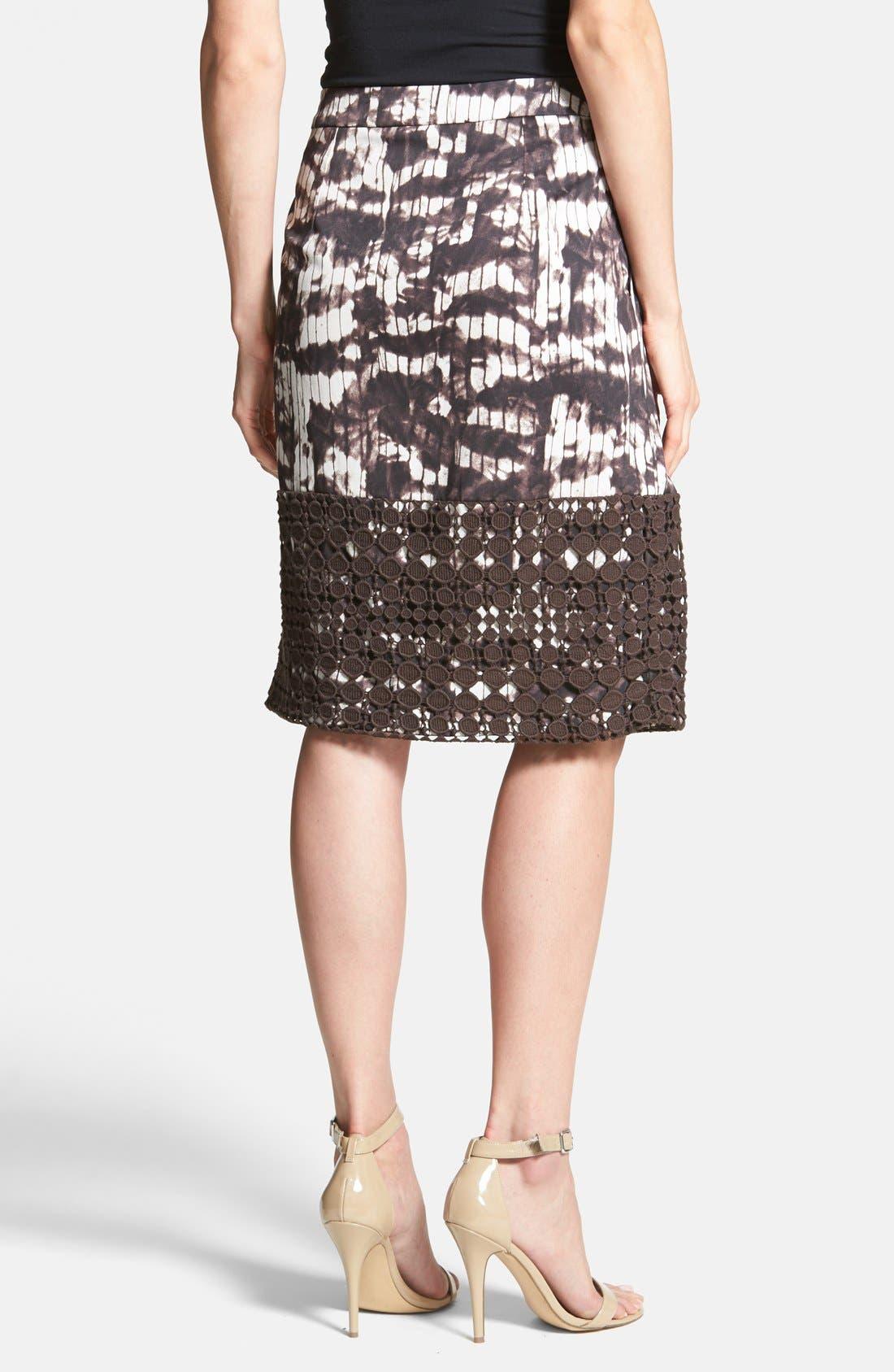 Alternate Image 2  - Weekend Max Mara 'Fresco' Eyelet Trim Print Skirt