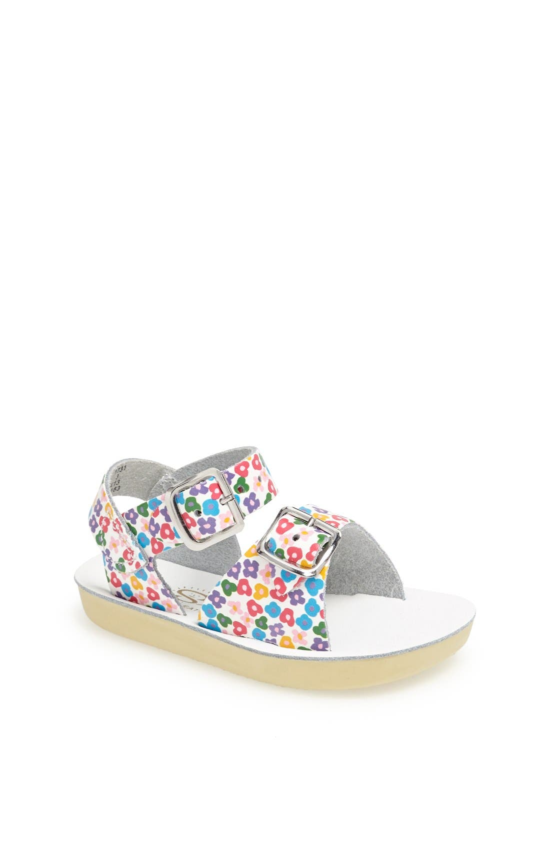 Hoy Shoe Salt-Water<sup>®</sup> Sandals 'Surfer' Sandal,                             Main thumbnail 1, color,                             Floral