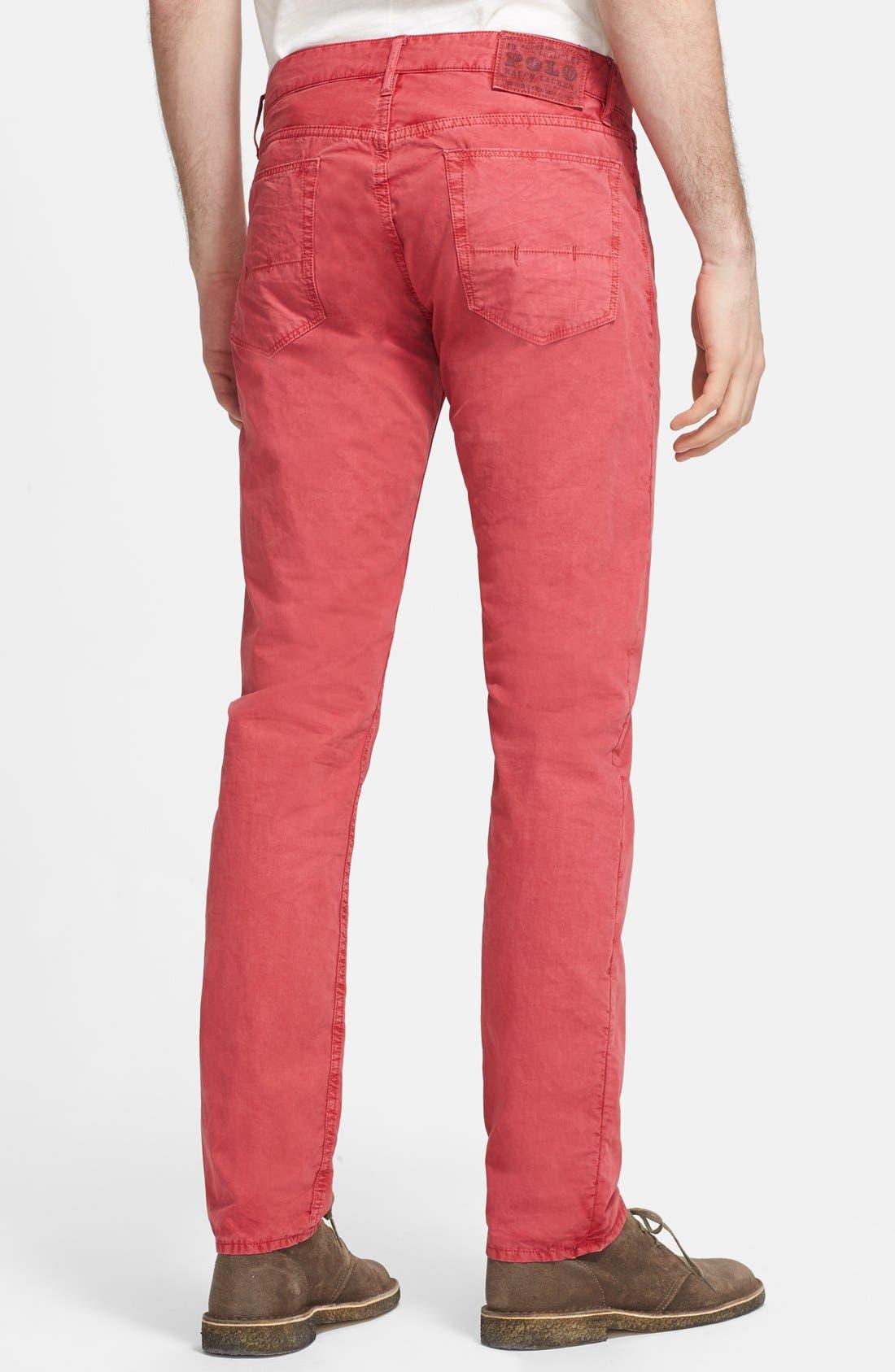 Alternate Image 2  - Polo Ralph Lauren Slim Fit Poplin Pants (Nantucket Red)