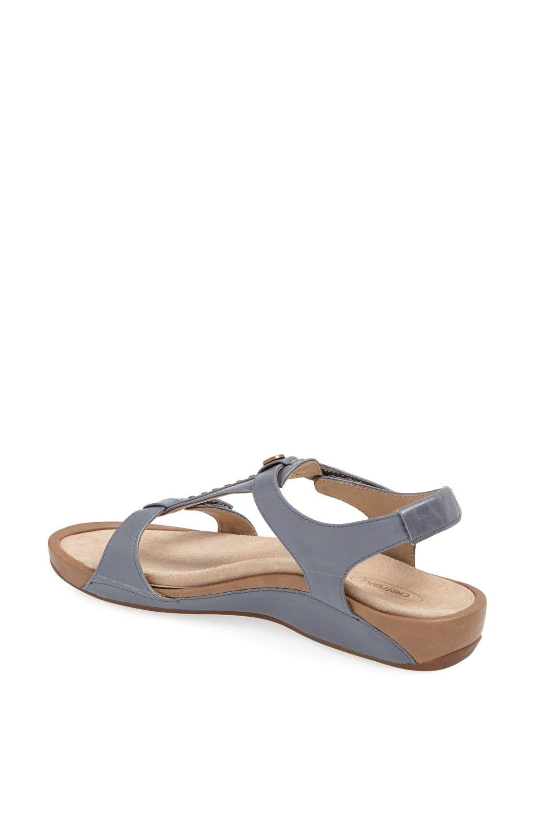Alternate Image 2  - Aetrex 'Alyssa' Leather Sandal