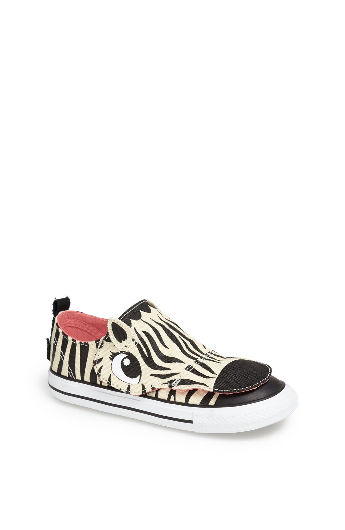 Alternate Image 1 Selected - Converse 'No Problem' Zebra Face Sneaker (Baby, Walker & Toddler)