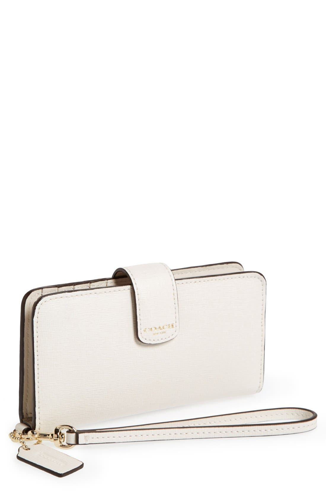 Alternate Image 1 Selected - COACH Saffiano Leather Phone Wallet