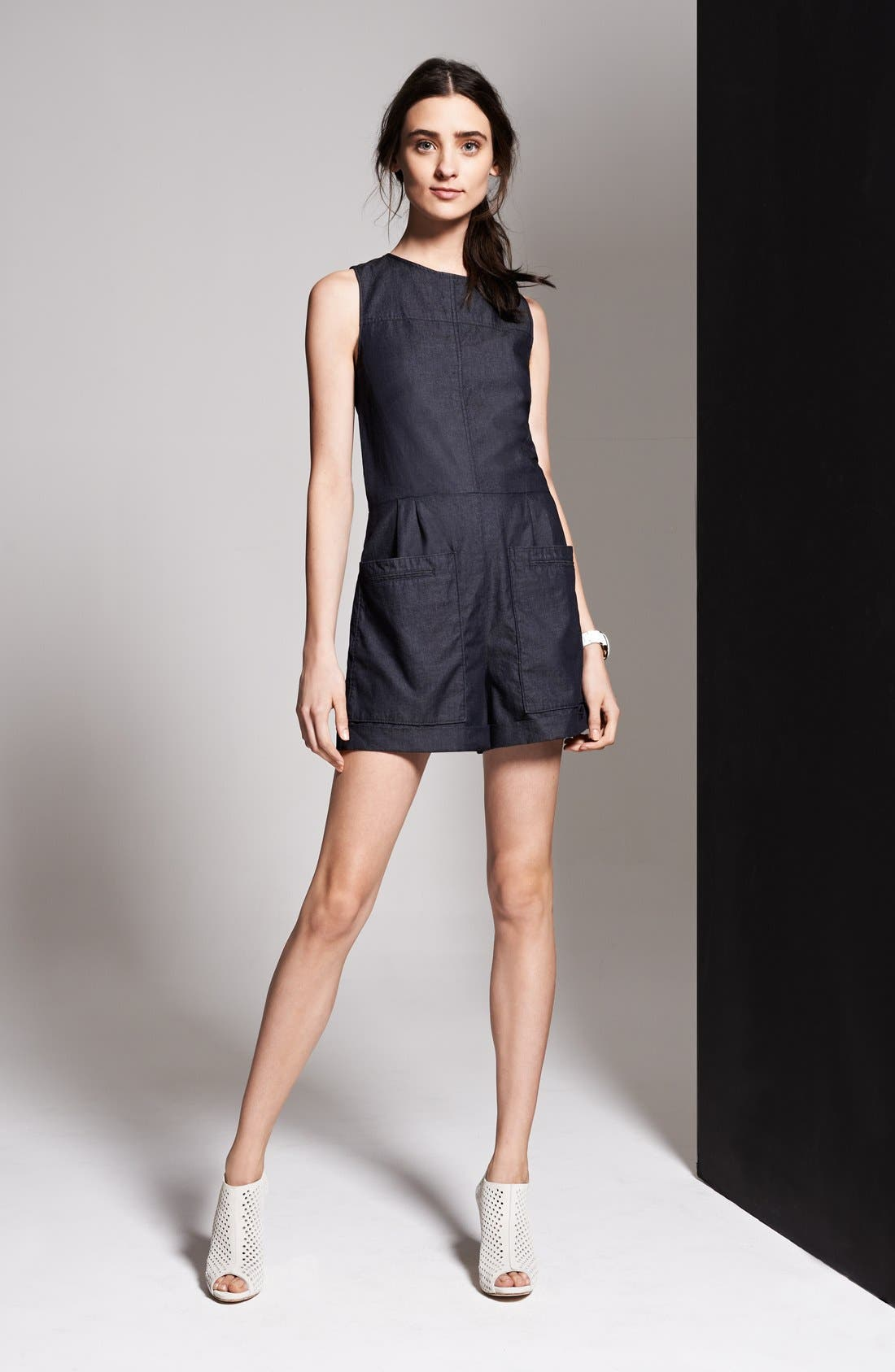 Alternate Image 4  - Theory 'Hadrine D.' Denim Romper