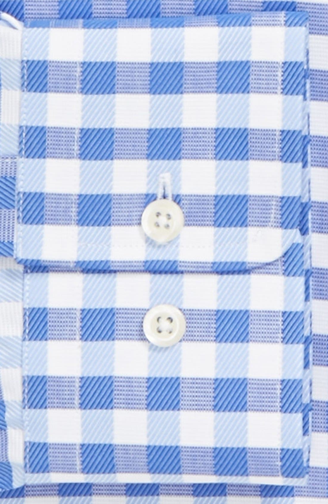Alternate Image 2  - David Donahue Trim Fit Gingham Dress Shirt