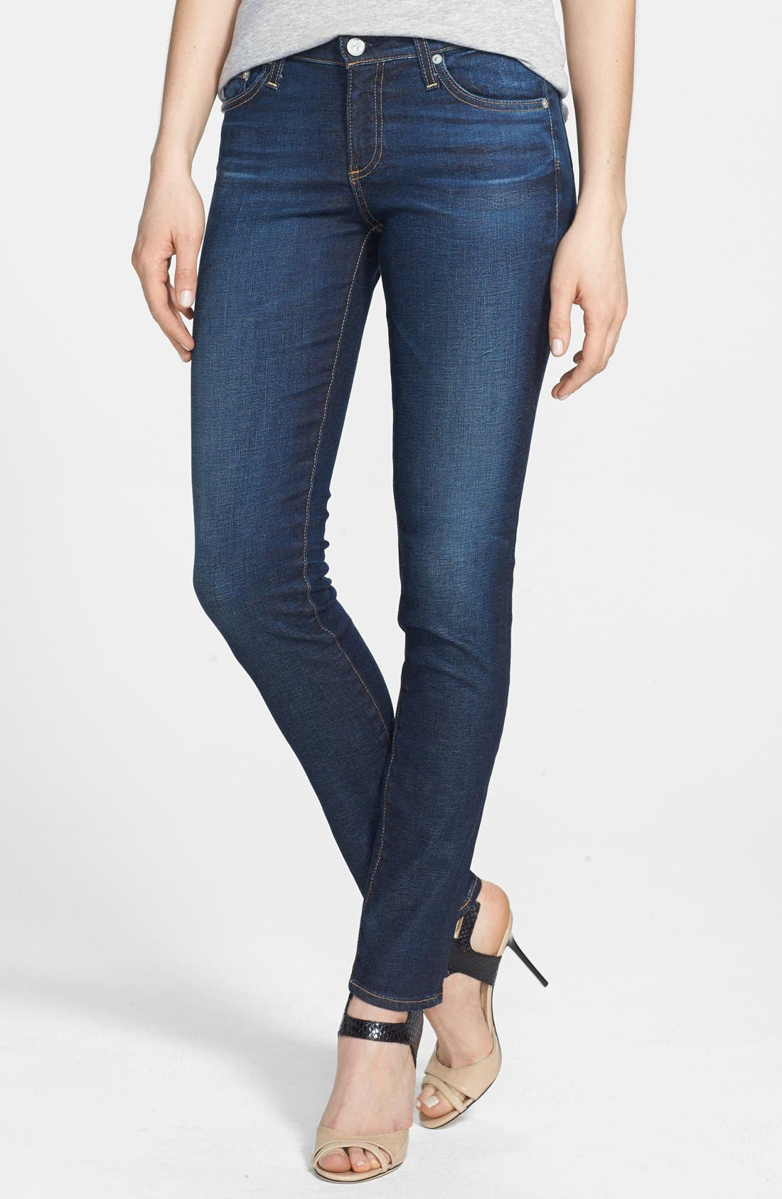 Main Image - AG 'The Stilt' Cigarette Leg Jeans (Three Year Propell)