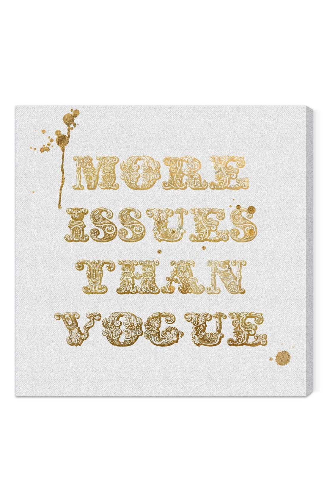 'More Issues Than Vogue' Wall Art,                         Main,                         color, Beige/ Khaki