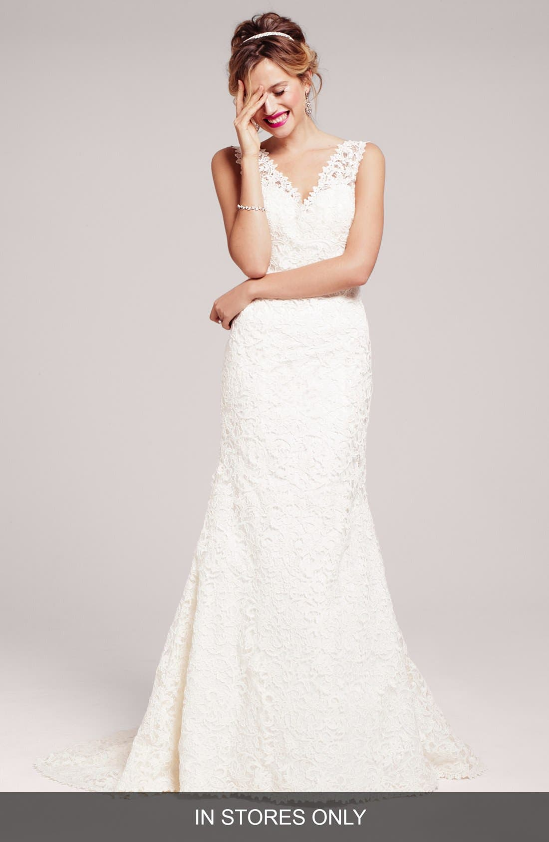 Alternate Image 1 Selected - Two by Rosa Clara 'Dakota' Lace Trumpet Wedding Dress (In Stores Only)