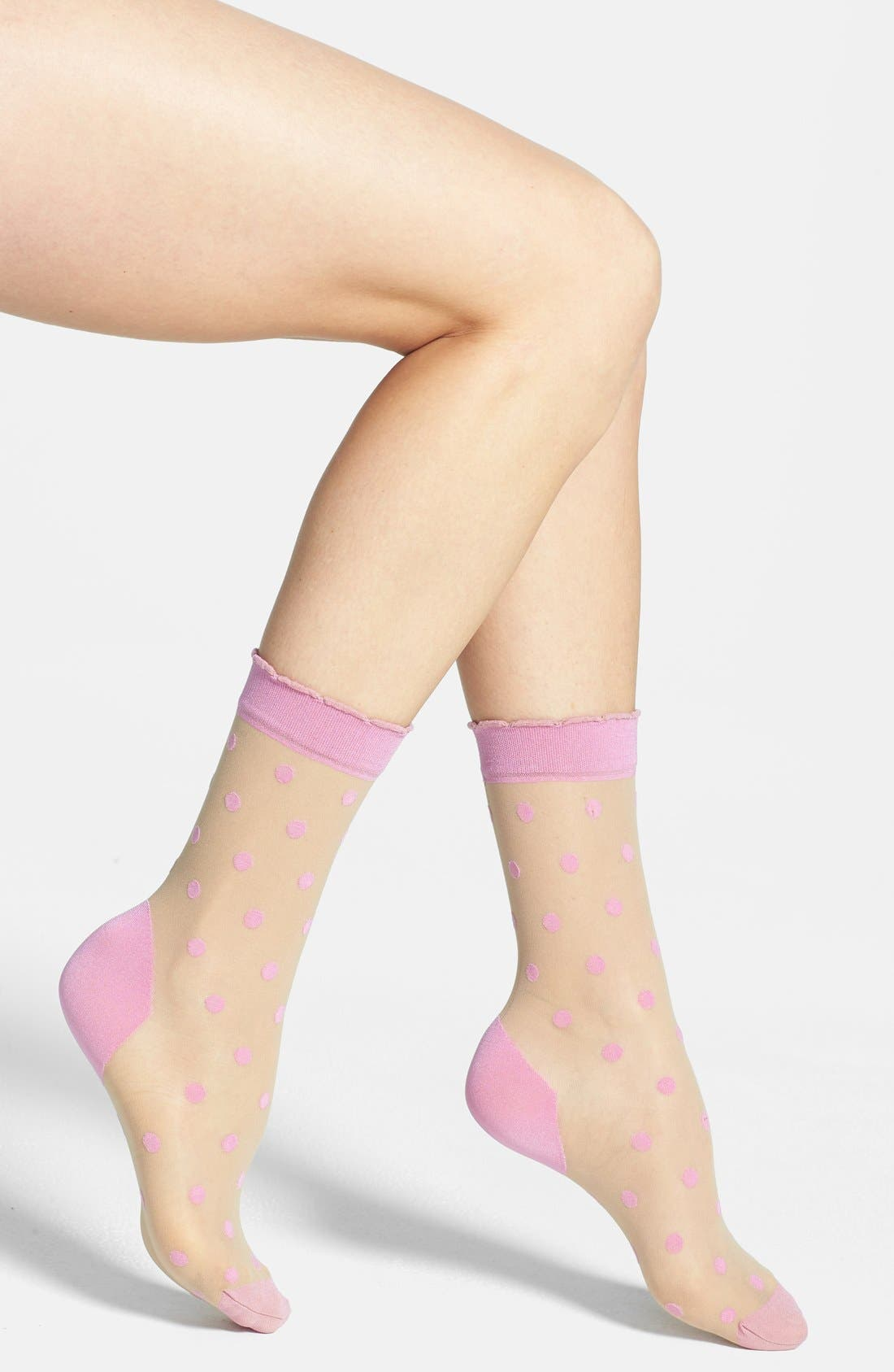 Main Image - Pretty Polly 'Pink Spot' Ankle Socks