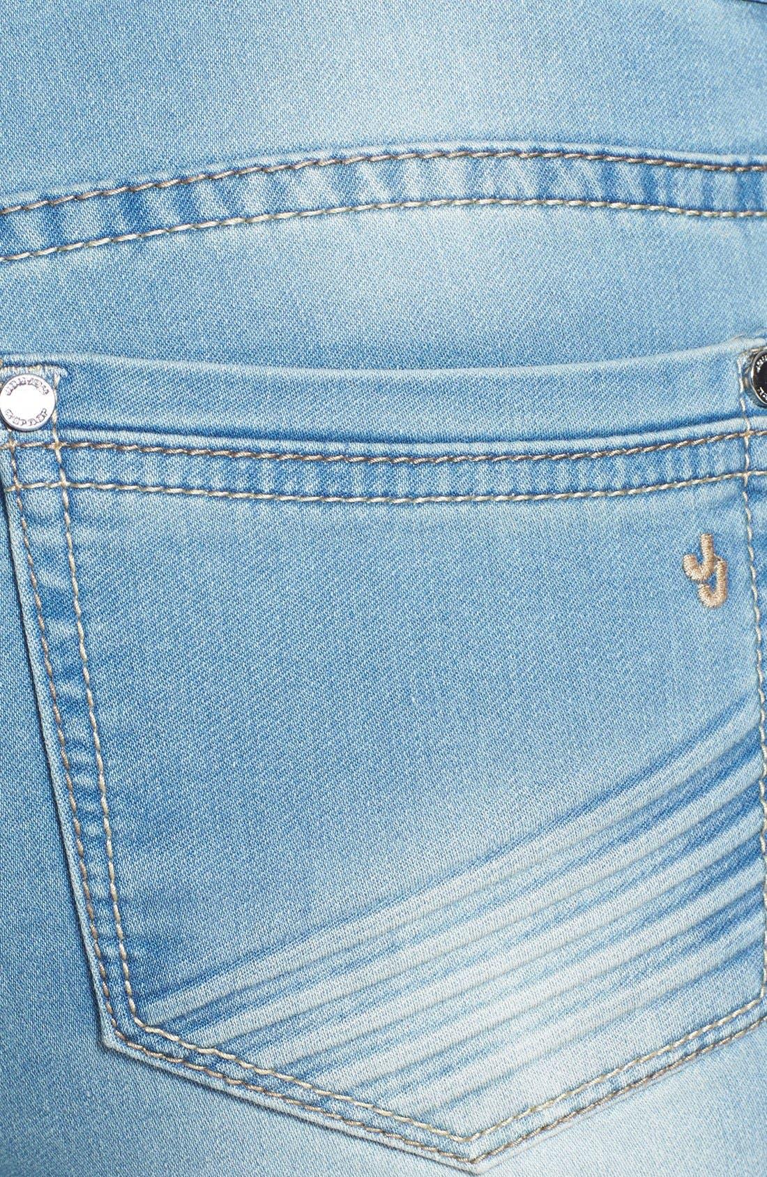 Alternate Image 3  - Jou Jou French Terry Knit Skinny Jeans (Juniors)