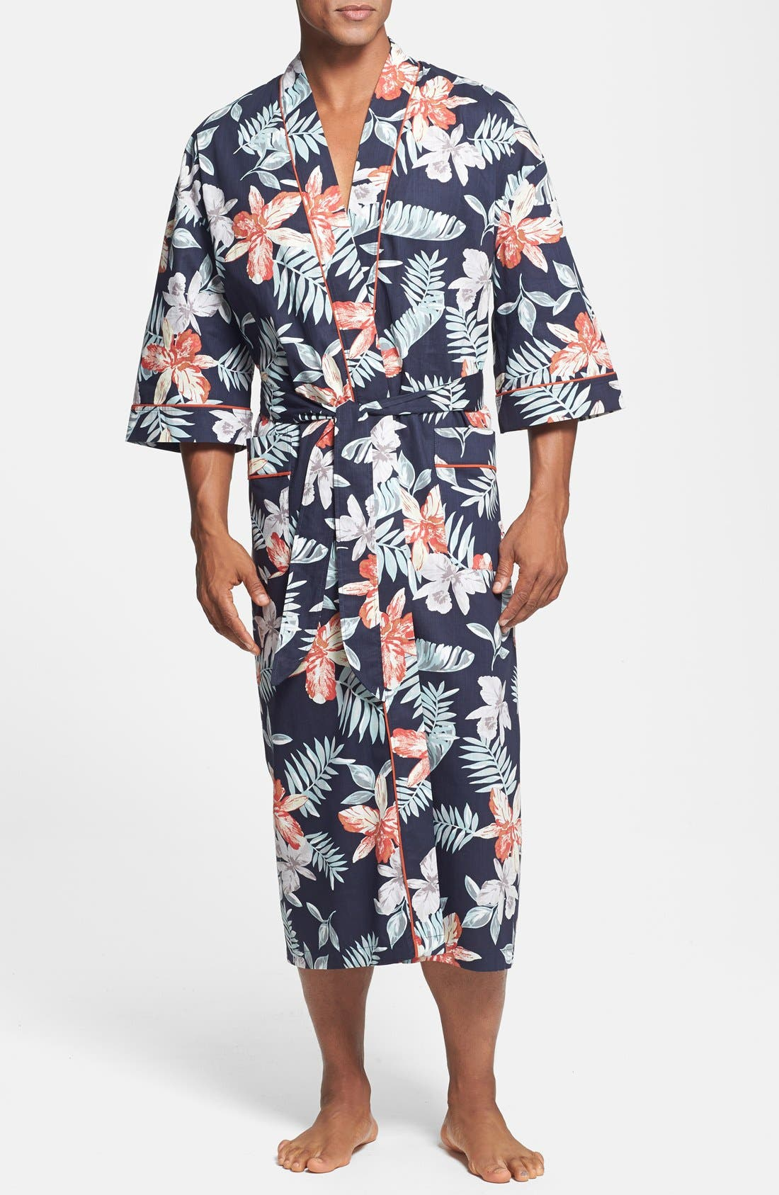 Alternate Image 1 Selected - Majestic International 'Tropical Punch' Kimono Robe