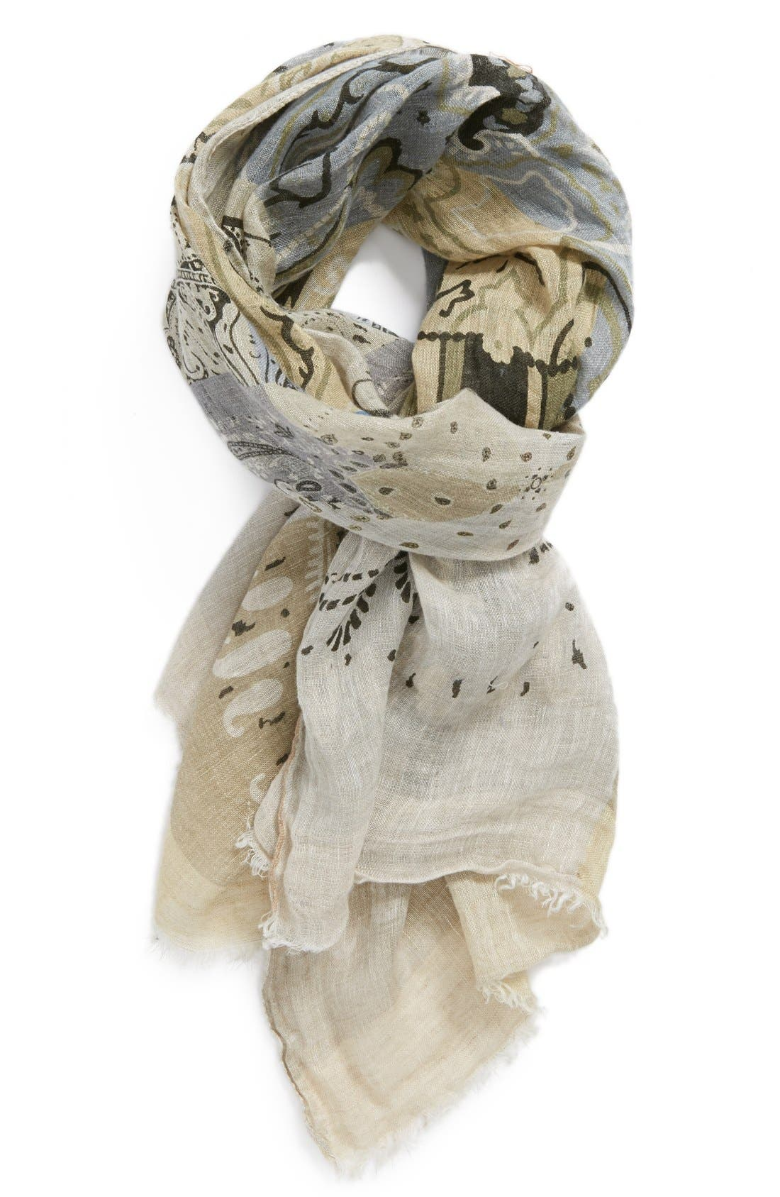 Alternate Image 1 Selected - Etro Multi Pattern Linen Scarf