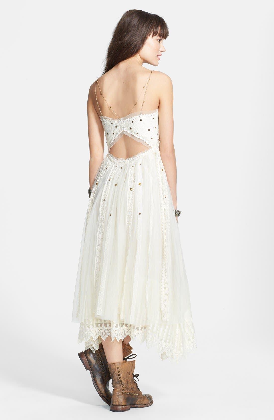 Alternate Image 2  - Free People Stud Lace Trim Midi Dress