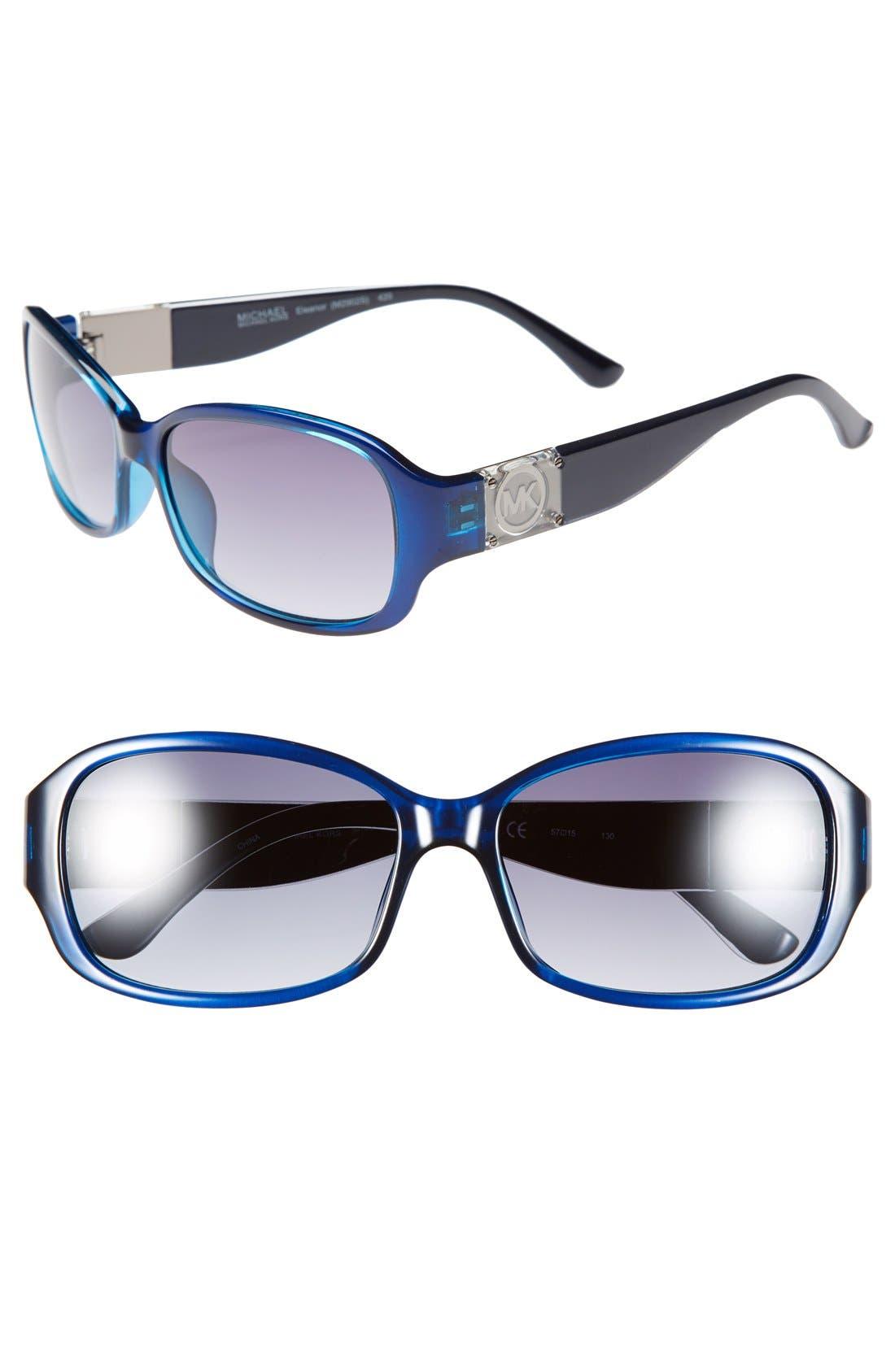 Alternate Image 1 Selected - MICHAEL Michael Kors 'Eleanor' 57mm Sunglasses