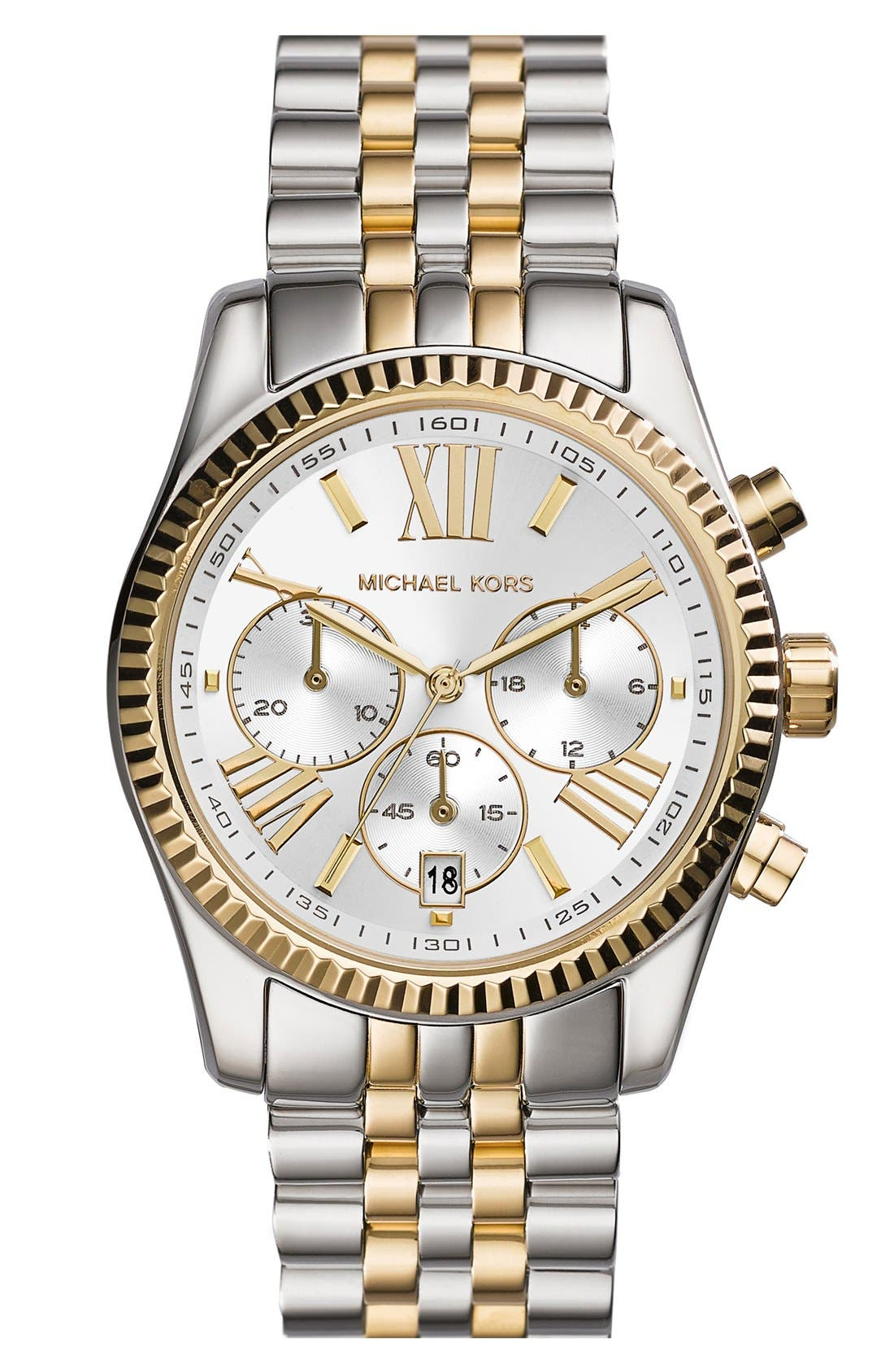 Main Image - Michael Kors 'Lexington' Chronograph Bracelet Watch, 38mm