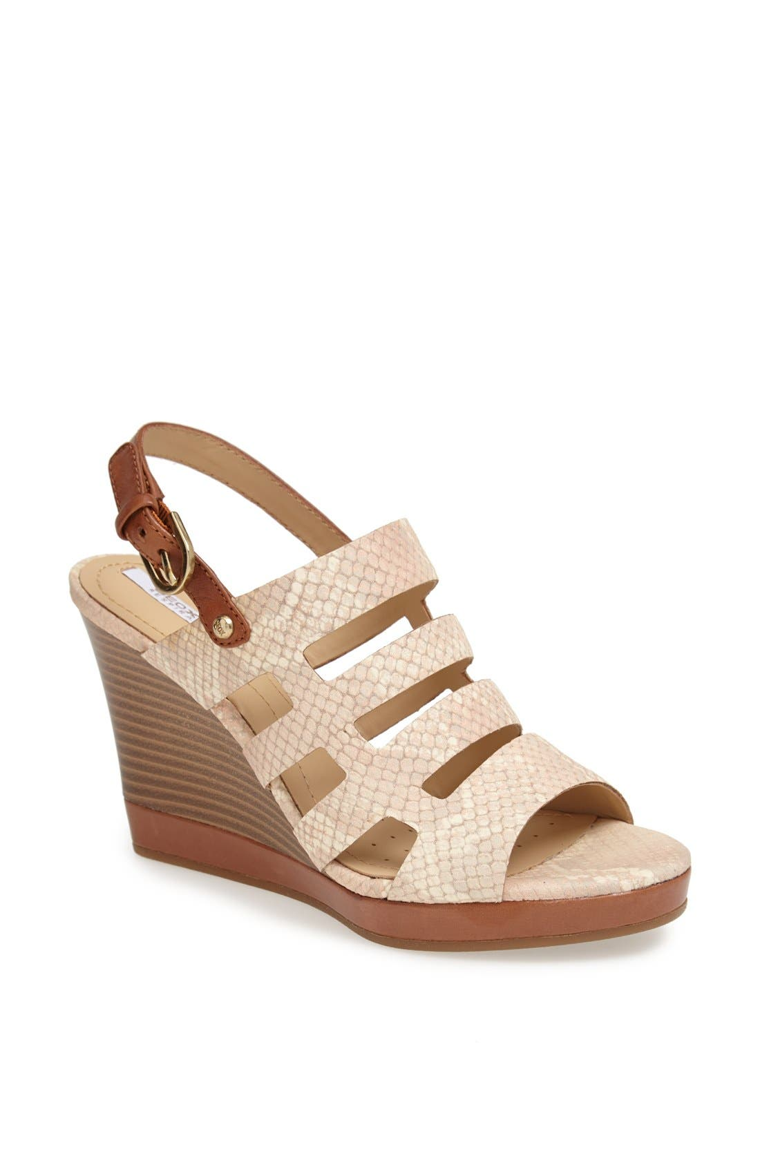 Alternate Image 1 Selected - Geox 'Sibilla' Wedge Sandal