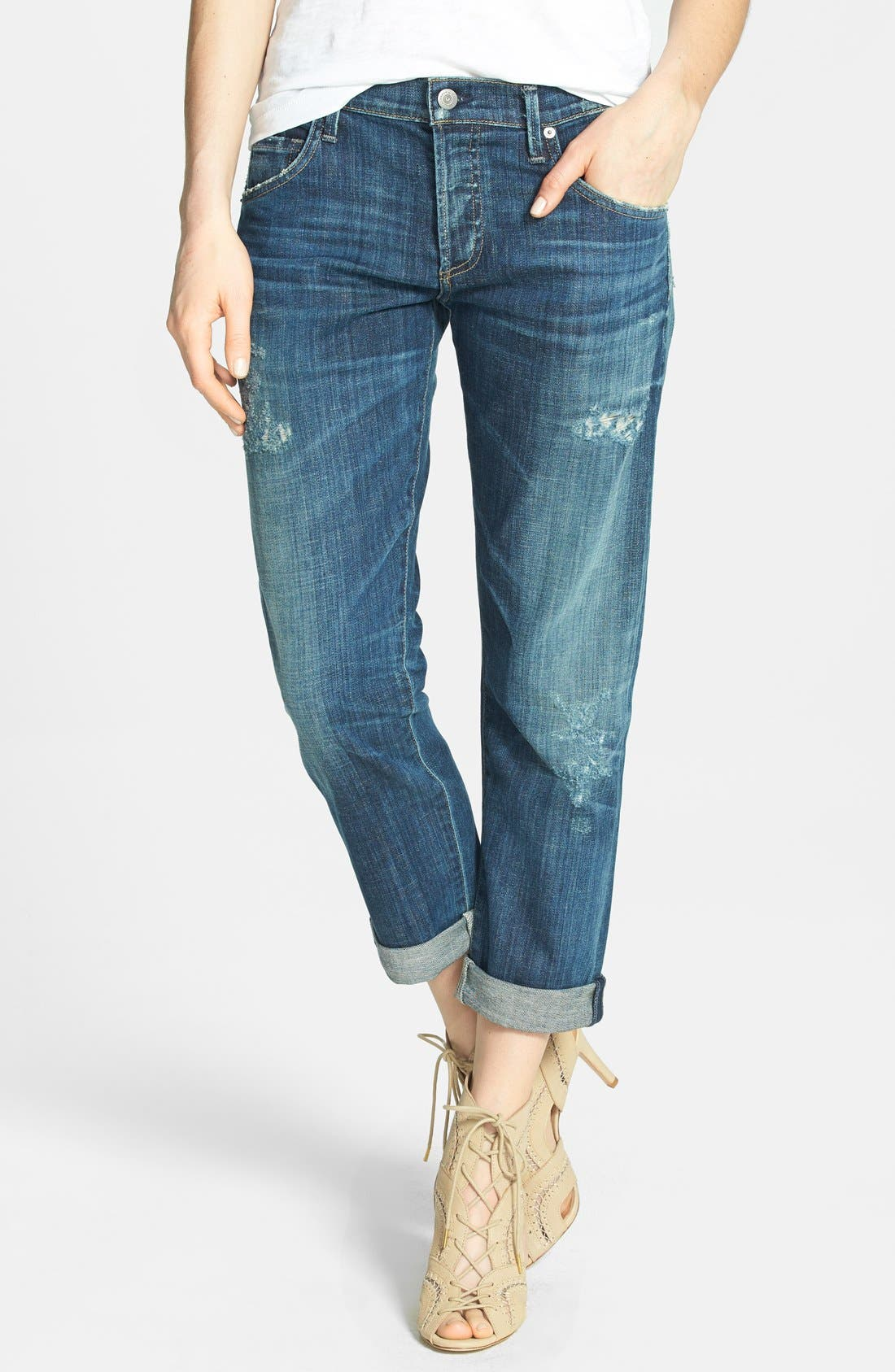 Alternate Image 1 Selected - Citizens of Humanity 'Dylan' Distressed Straight Leg Jeans (Nomad)