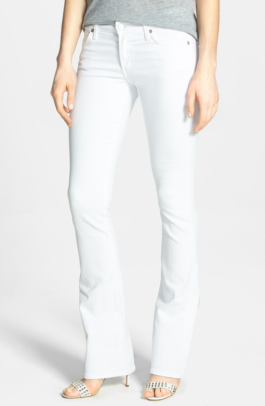 'Emannuelle' Slim Bootcut Jeans,                         Main,                         color, Optic White
