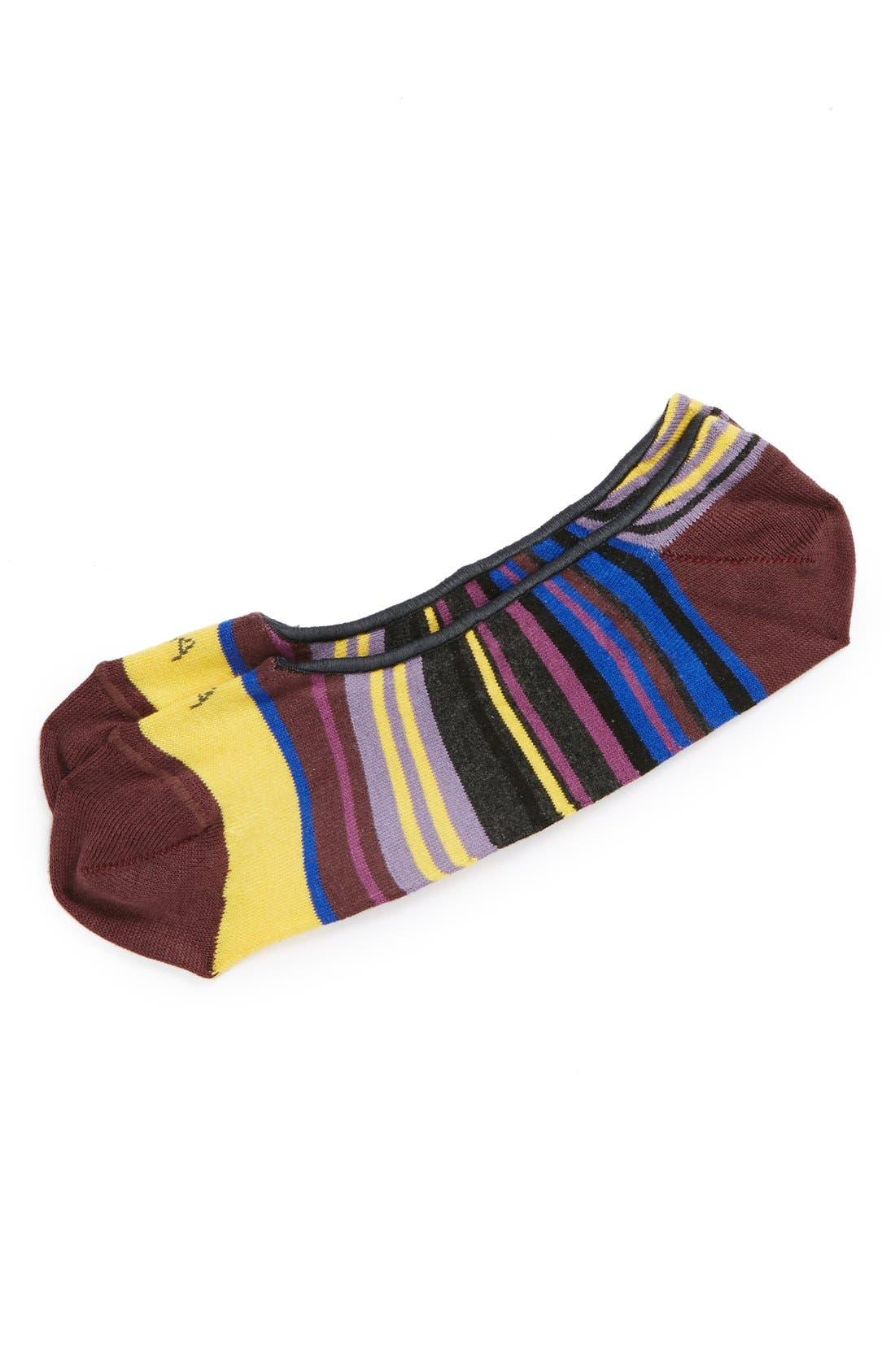 Alternate Image 1 Selected - hook + ALBERT 'Lilly Stripe' No-Show Socks