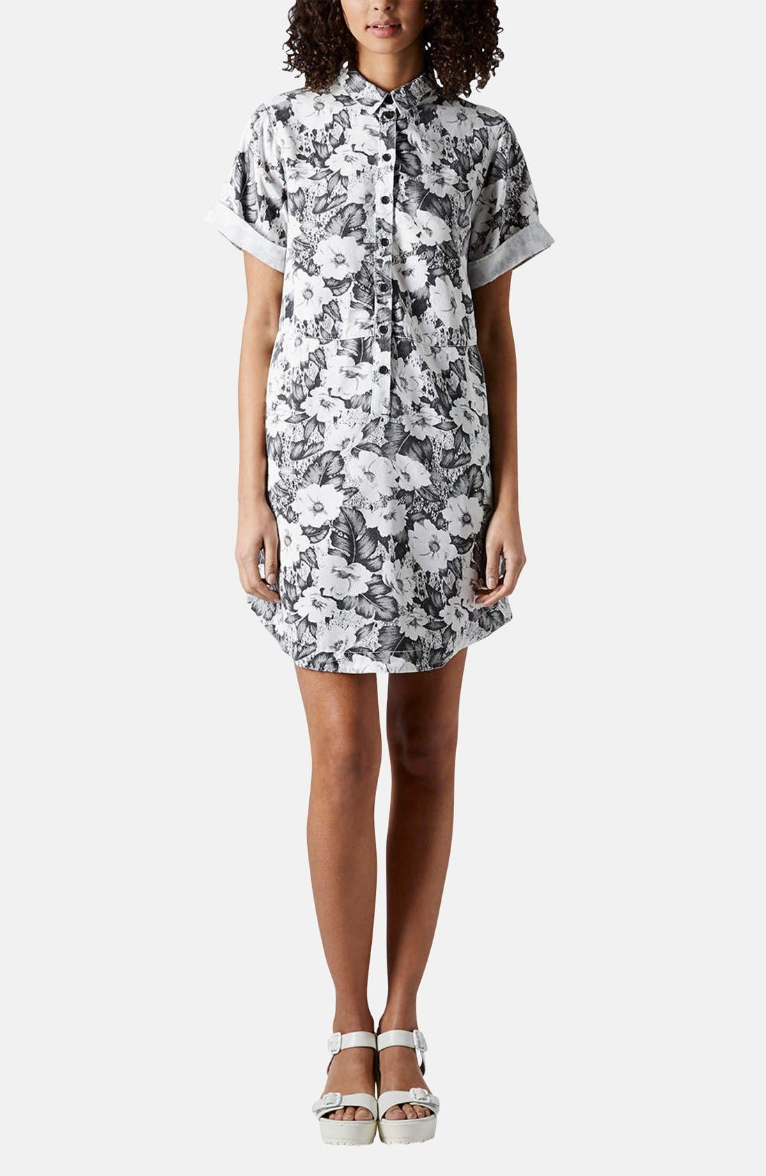 Alternate Image 5  - Topshop 'Aloha' Print Shirt Dress