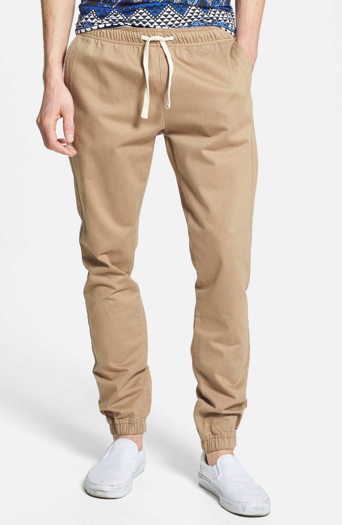 Main Image - Topman Skinny Fit Woven Jogger Chinos