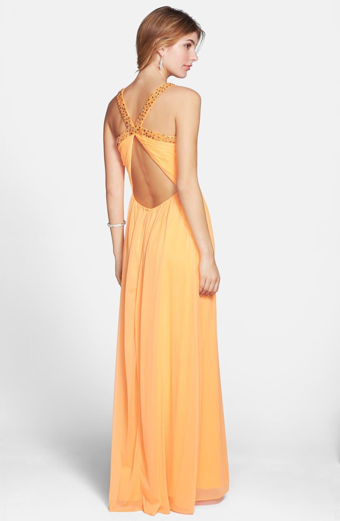 Alternate Image 2  - Hailey Logan 'Tina' Cutout Embellished Gown (Juniors)