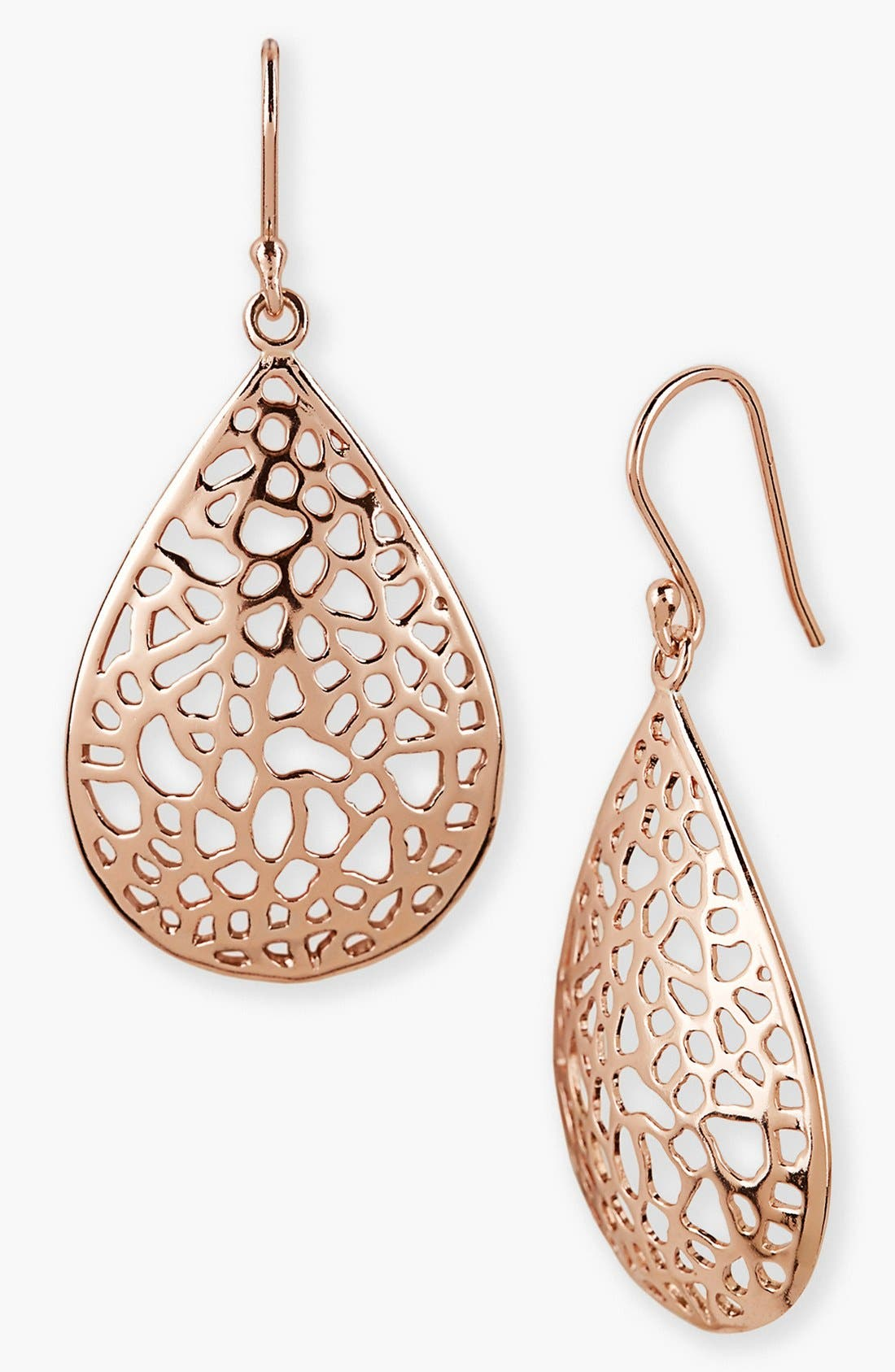Alternate Image 1 Selected - Argento Vivo Teardrop Dome Lace Earrings
