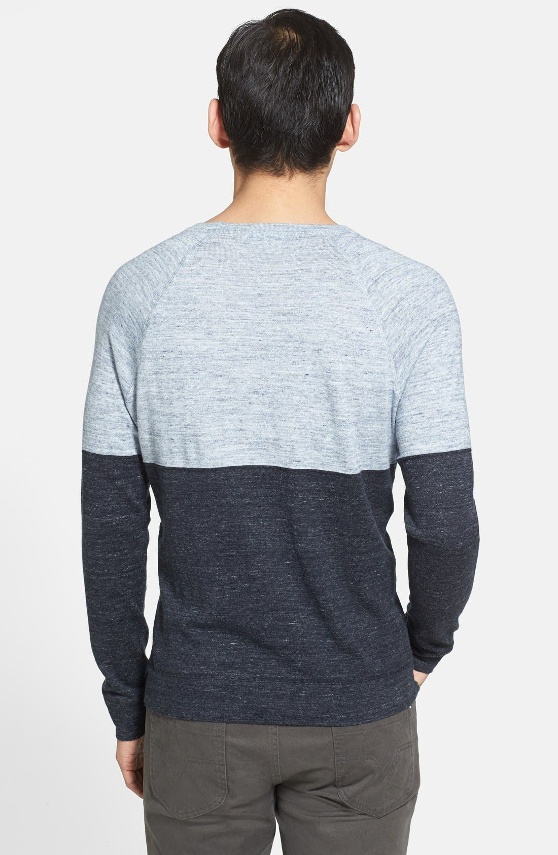 Alternate Image 2  - Vince 'Breezy' Colorblock Crewneck Sweater