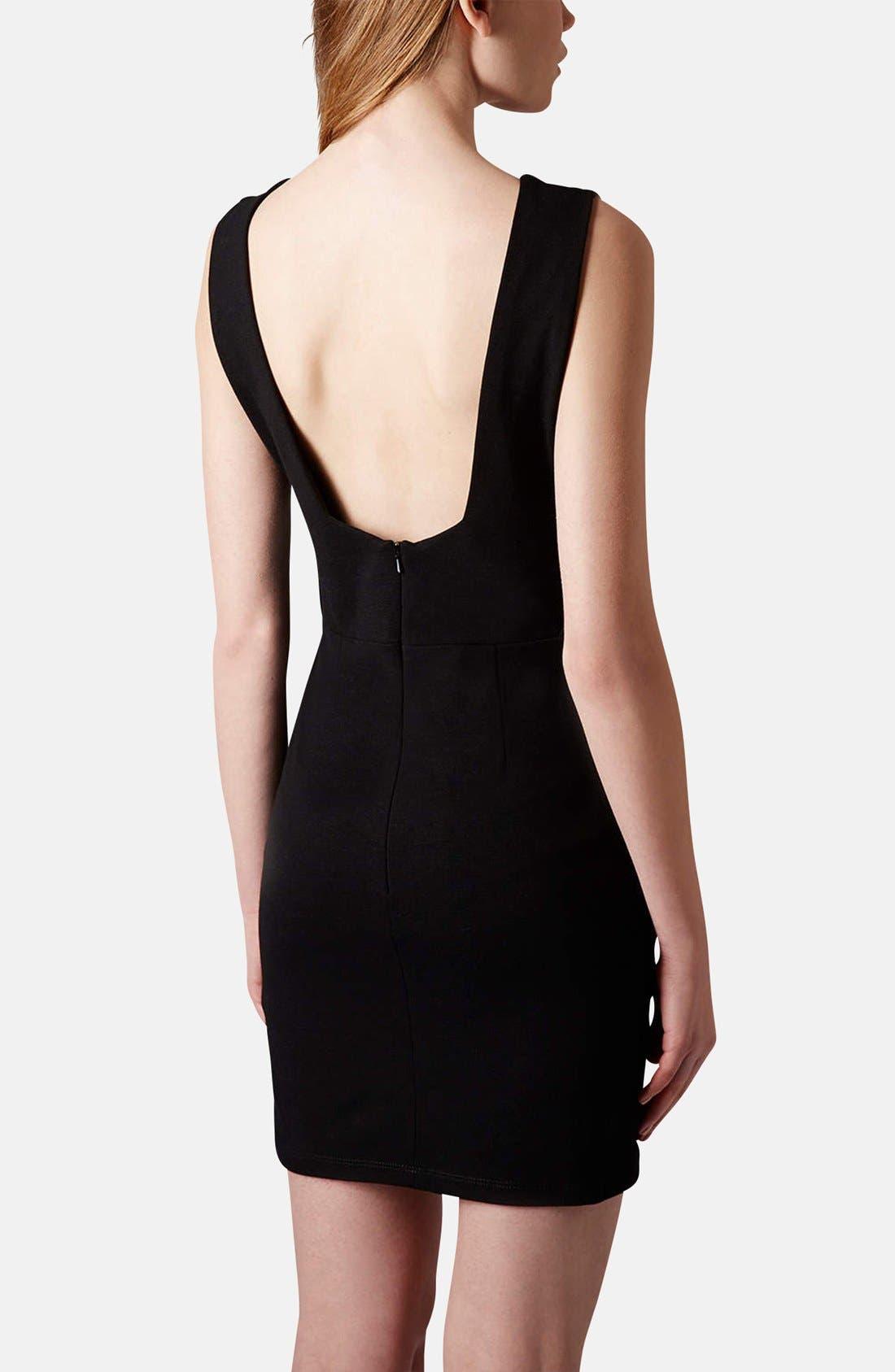 Alternate Image 2  - Topshop Deep-V Jersey Body-Con Dress