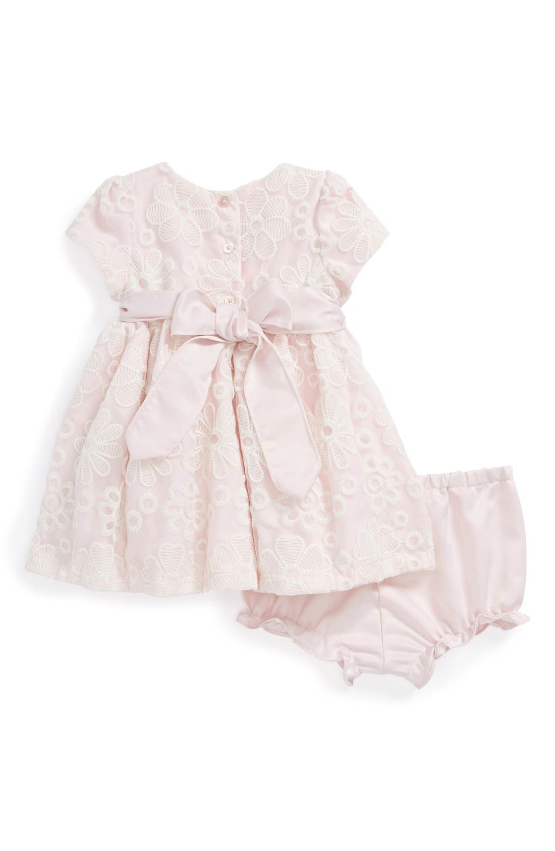 Alternate Image 2  - Pippa & Julie Flower Lace Dress (Baby Girls)