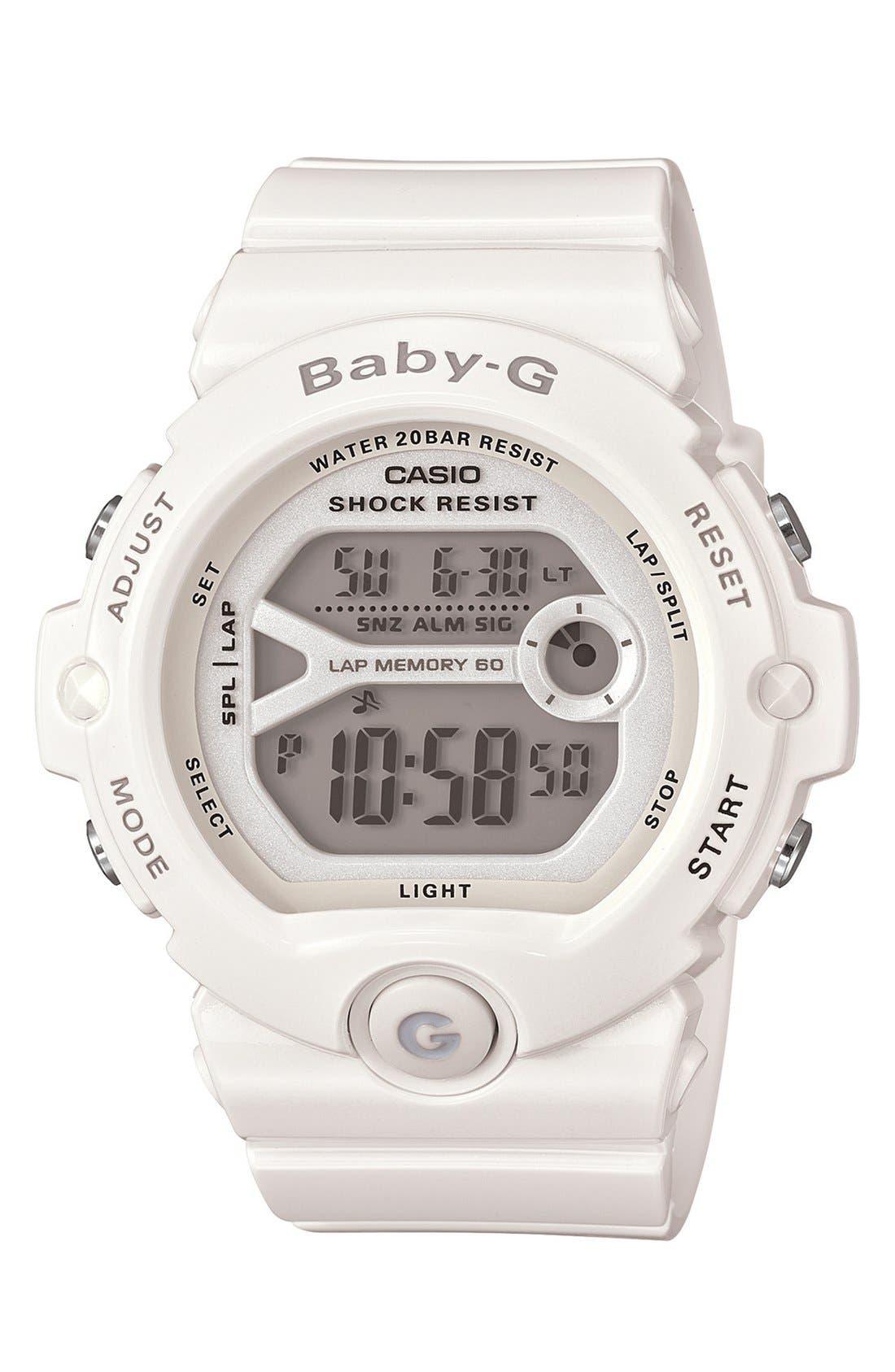 Alternate Image 1 Selected - Baby-G 'Runners' Digital Watch, 45mm