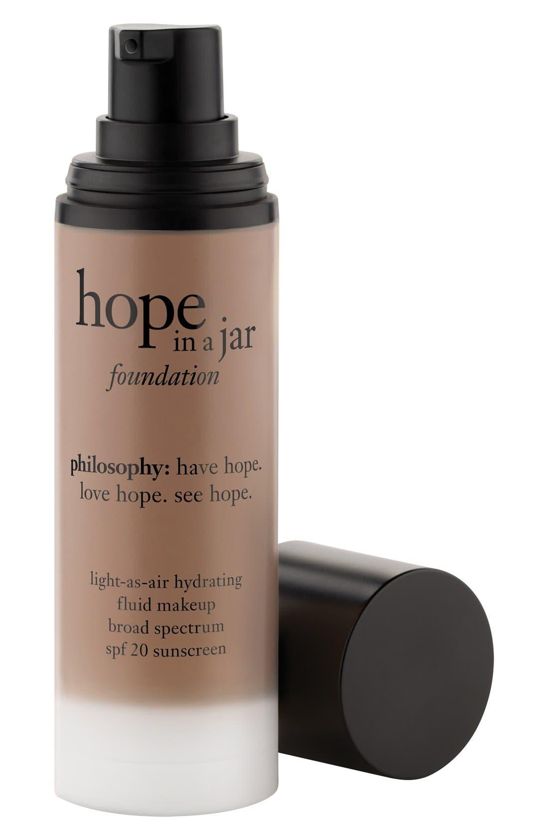 philosophy 'hope in a jar' light-as-air hydrating fluid foundation SPF 20