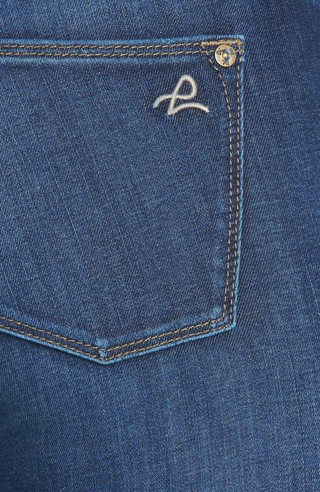 Alternate Image 3  - DL1961 'Angel' Ankle Cigarette Jeans (Wall)
