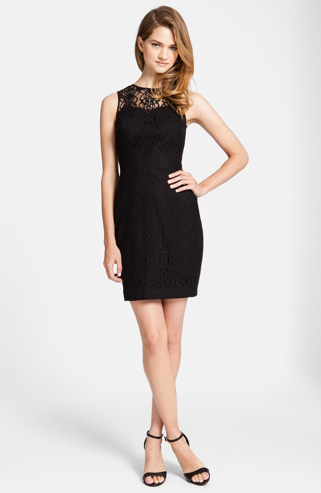 Main Image - CeCe by Cynthia Steffe 'Hayden' Lace Sheath Dress