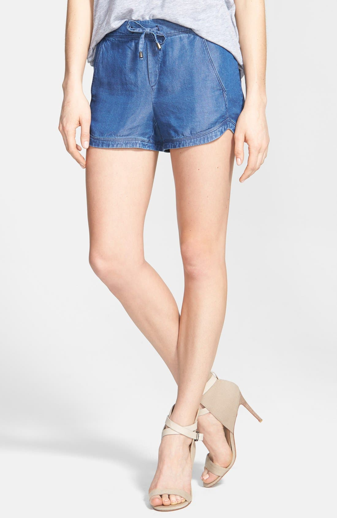 Alternate Image 1 Selected - Splendid Chambray Dolphin Shorts