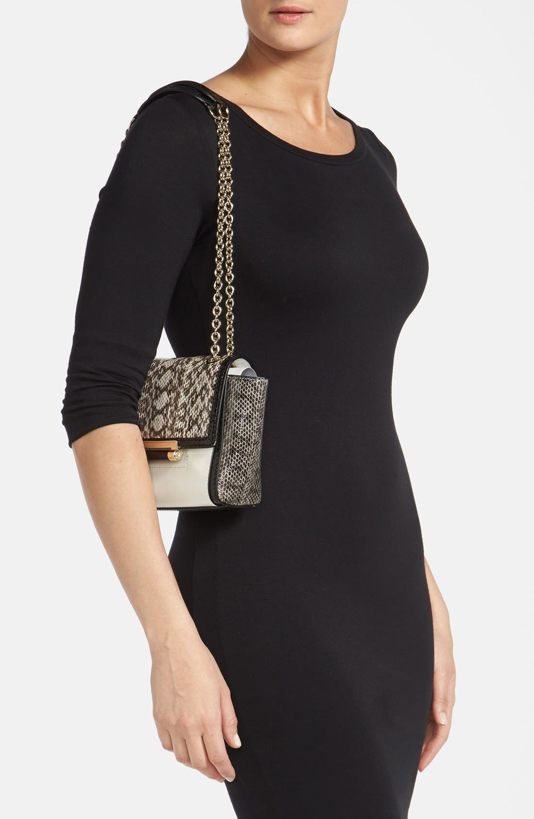 Alternate Image 2  - Diane Von Furstenberg '440 - Mini' Genuine Snakeskin & Leather Crossbody Bag