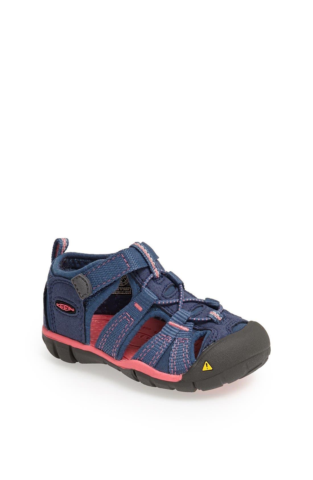 'Seacamp II' Waterproof Sandal,                             Main thumbnail 1, color,                             Blue Rose