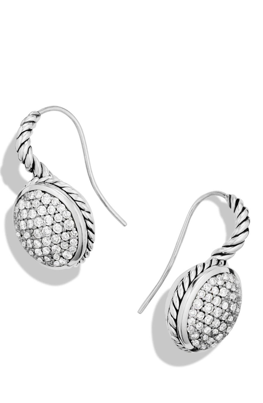 Alternate Image 2  - David Yurman Pavé Drop Earrings with Diamonds
