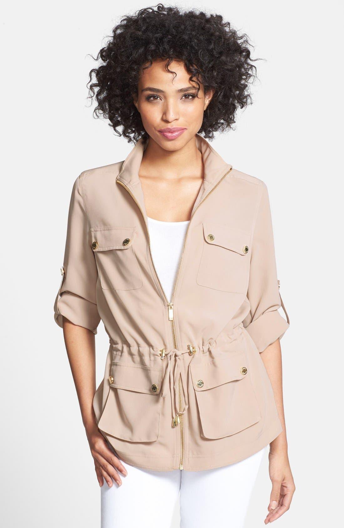 Alternate Image 1 Selected - Calvin Klein Soft Camp Jacket