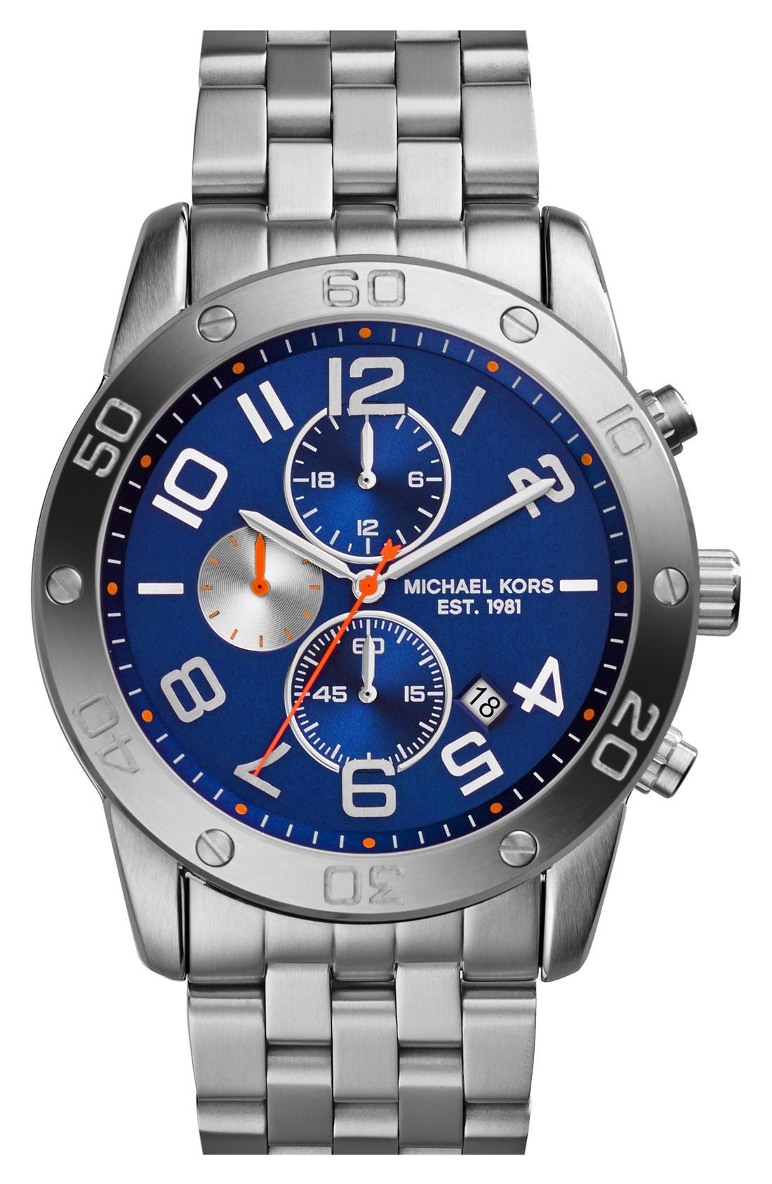 Main Image - Michael Kors 'Mercer' Chronograph Bracelet Watch, 45mm