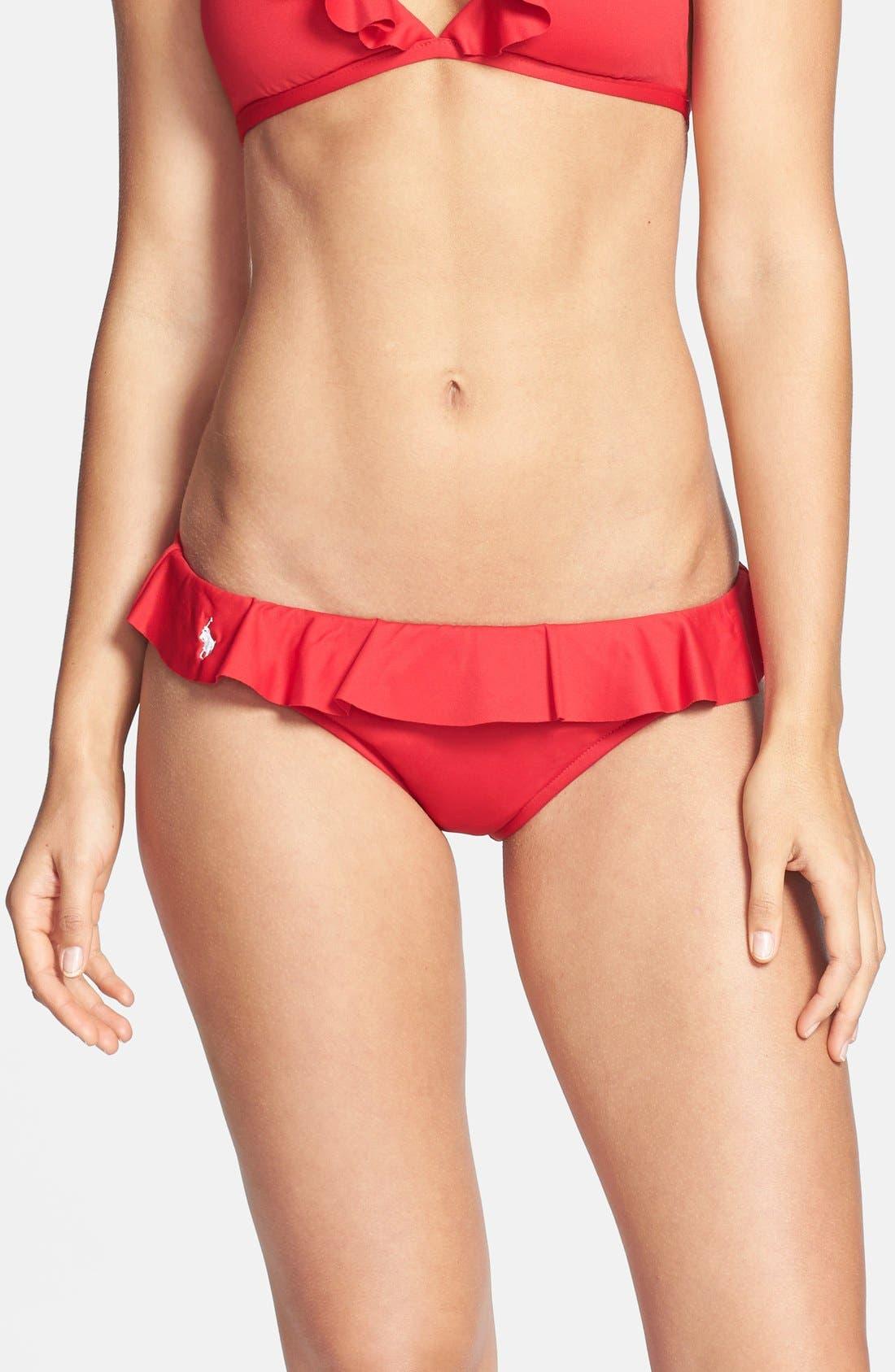 Main Image - Ralph Lauren Blue Label Ruffled Bikini Bottoms