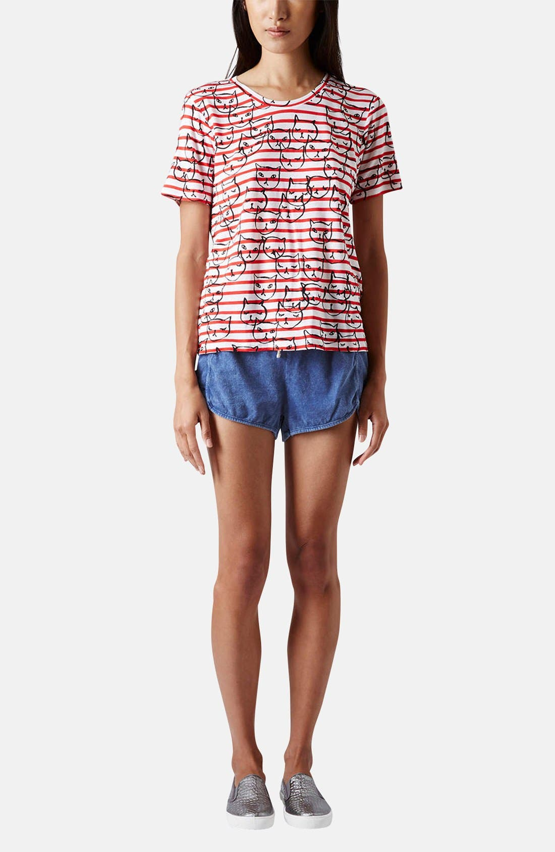 Alternate Image 5  - Topshop Chambray Dolphin Shorts
